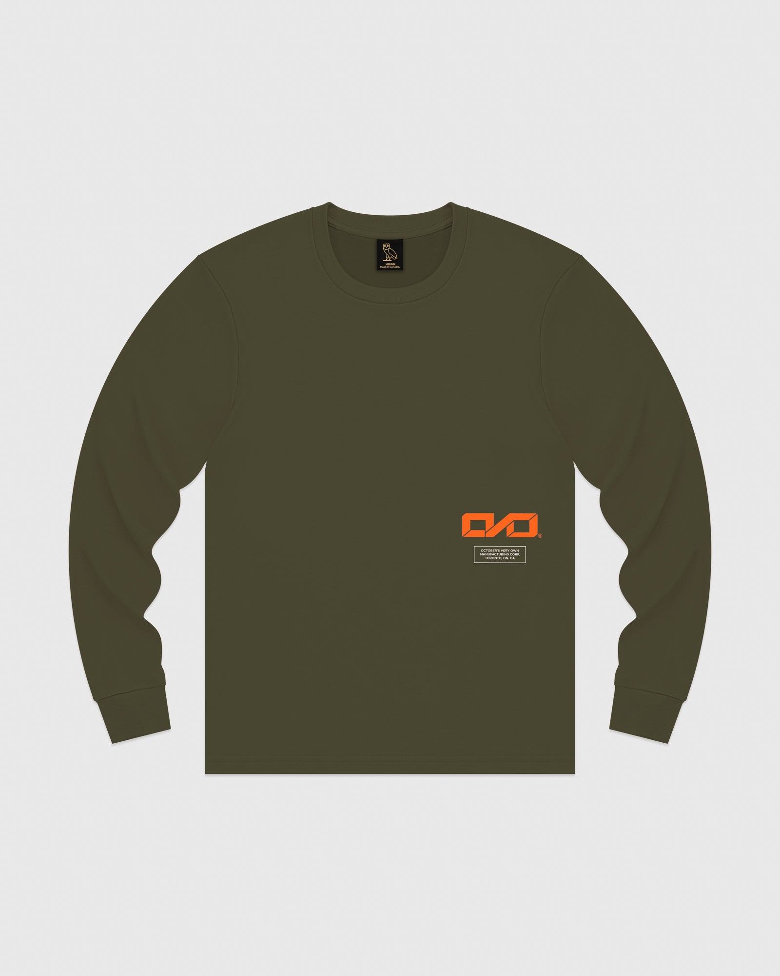 OVO INDUSTRIES LONGSLEEVE T-SHIRT - LEAF GREEN IMAGE #1