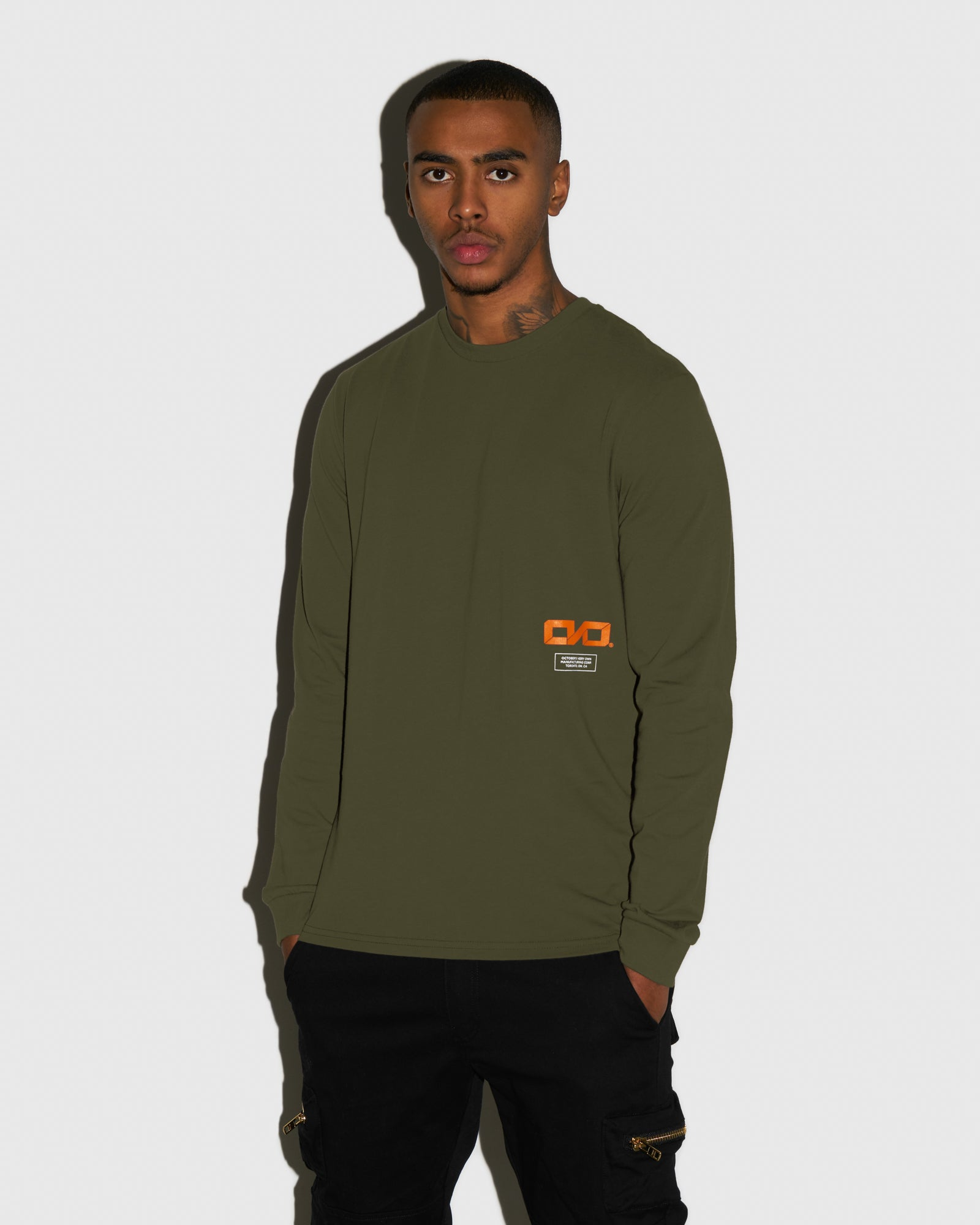 OVO INDUSTRIES LONGSLEEVE T-SHIRT - LEAF GREEN IMAGE #2