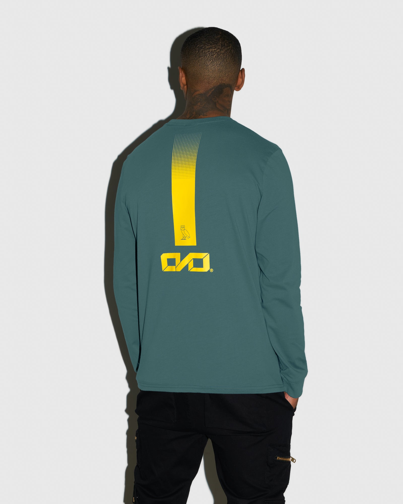 OVO INDUSTRIES LONGSLEEVE T-SHIRT - STEELE BLUE IMAGE #3