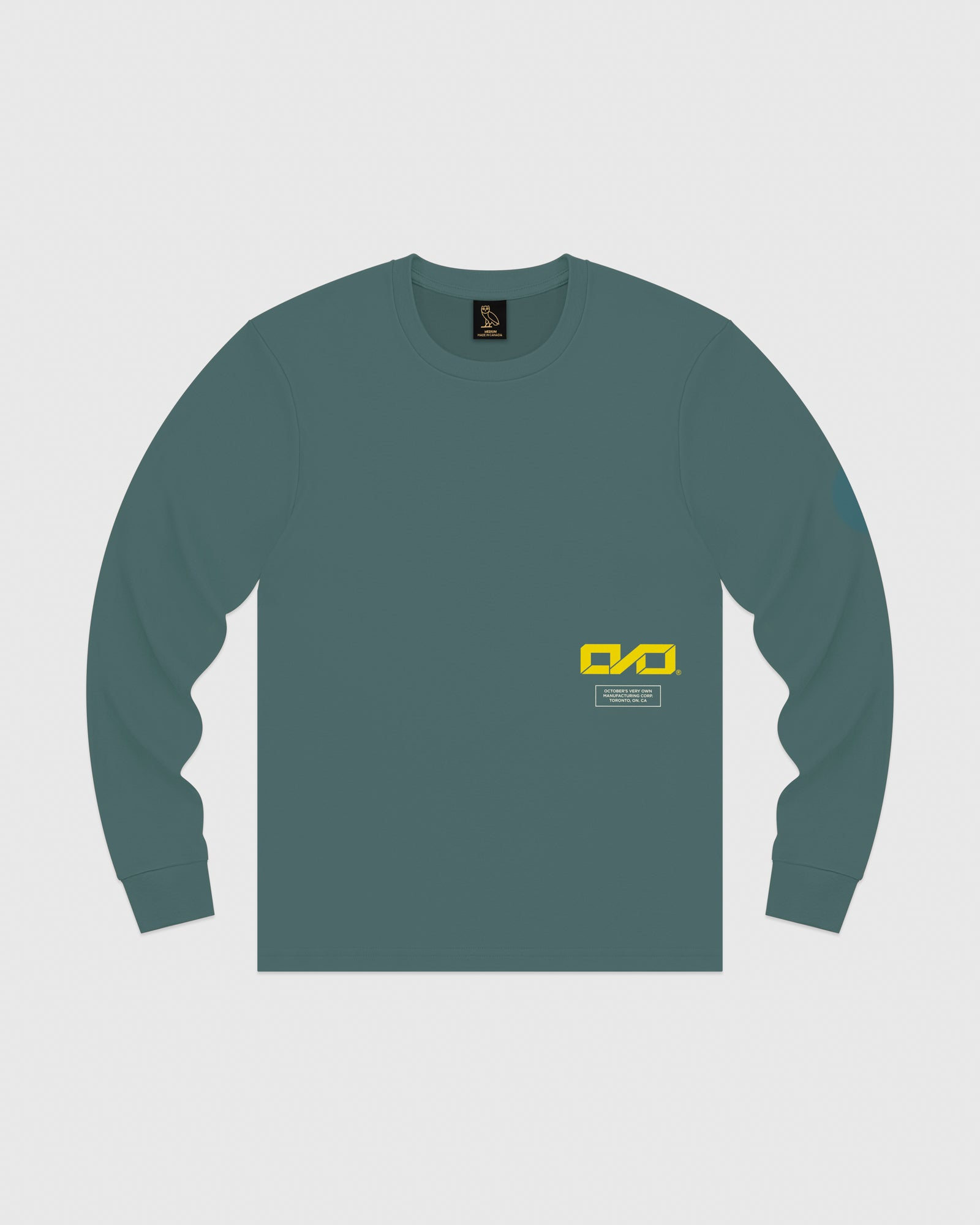 OVO INDUSTRIES LONGSLEEVE T-SHIRT - STEELE BLUE IMAGE #1
