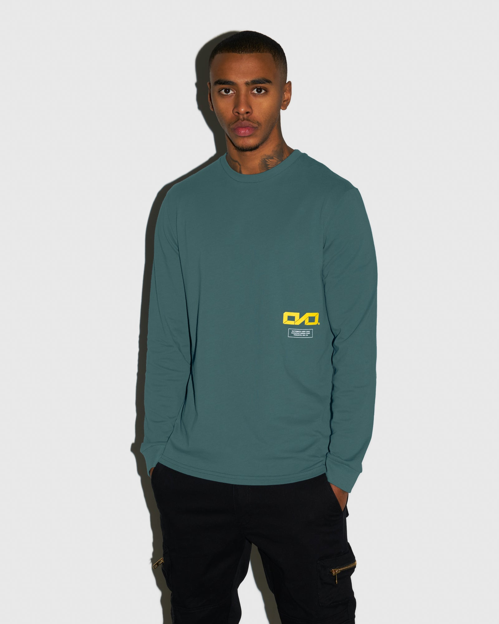 OVO INDUSTRIES LONGSLEEVE T-SHIRT - STEELE BLUE IMAGE #2