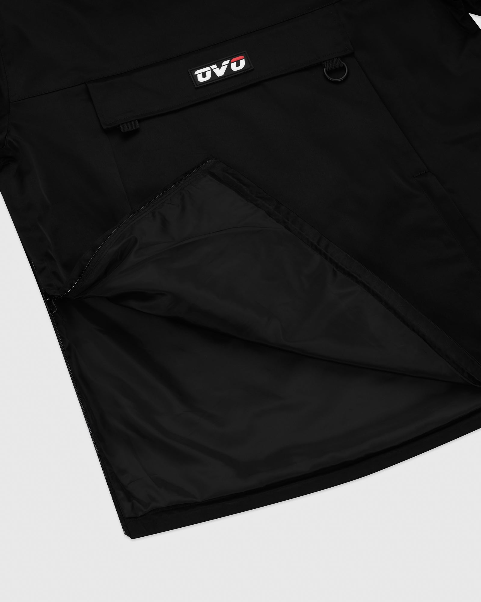 OVO INTERNATIONAL ANORAK HOODIE - BLACK IMAGE #6