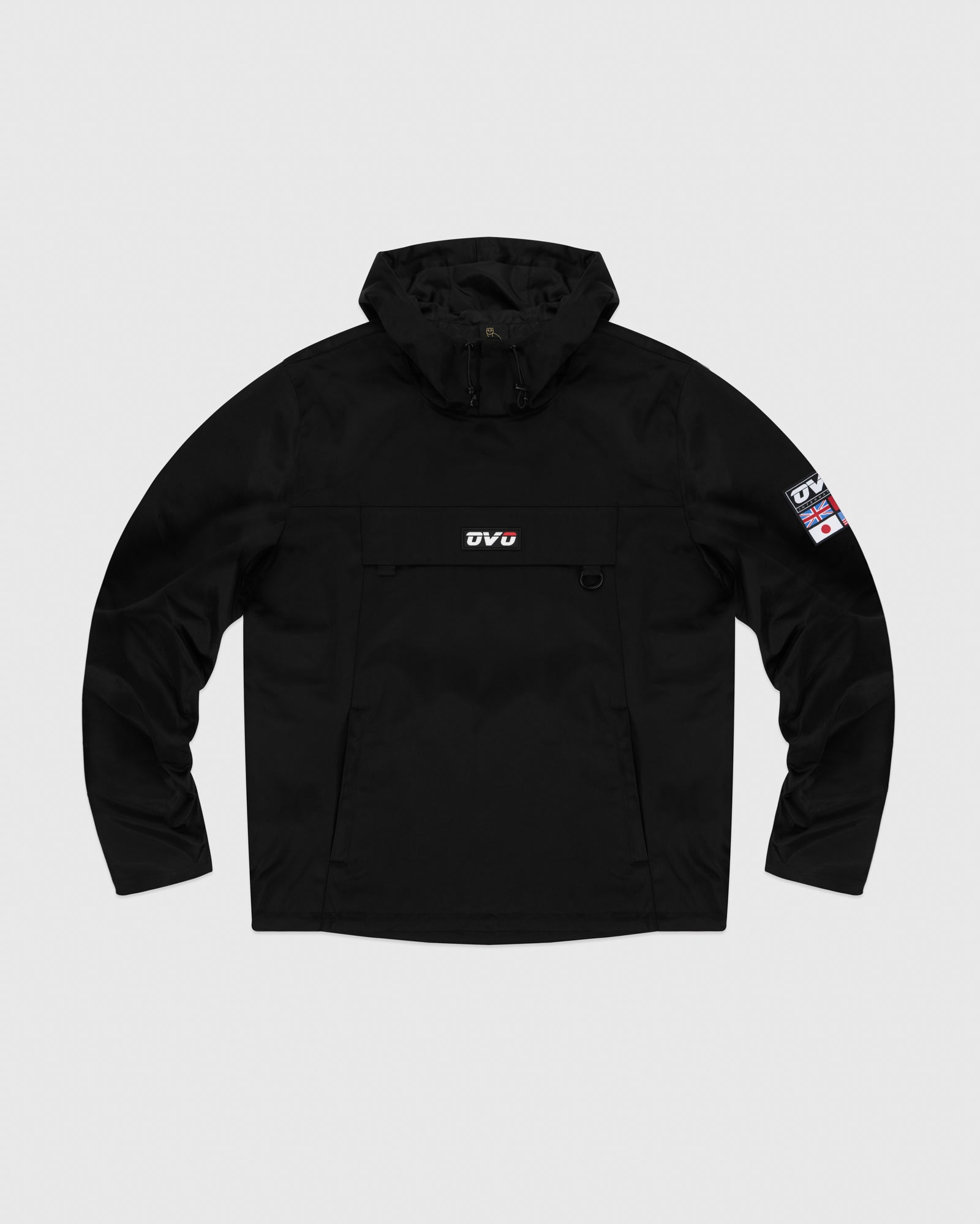 OVO INTERNATIONAL ANORAK HOODIE - BLACK IMAGE #1