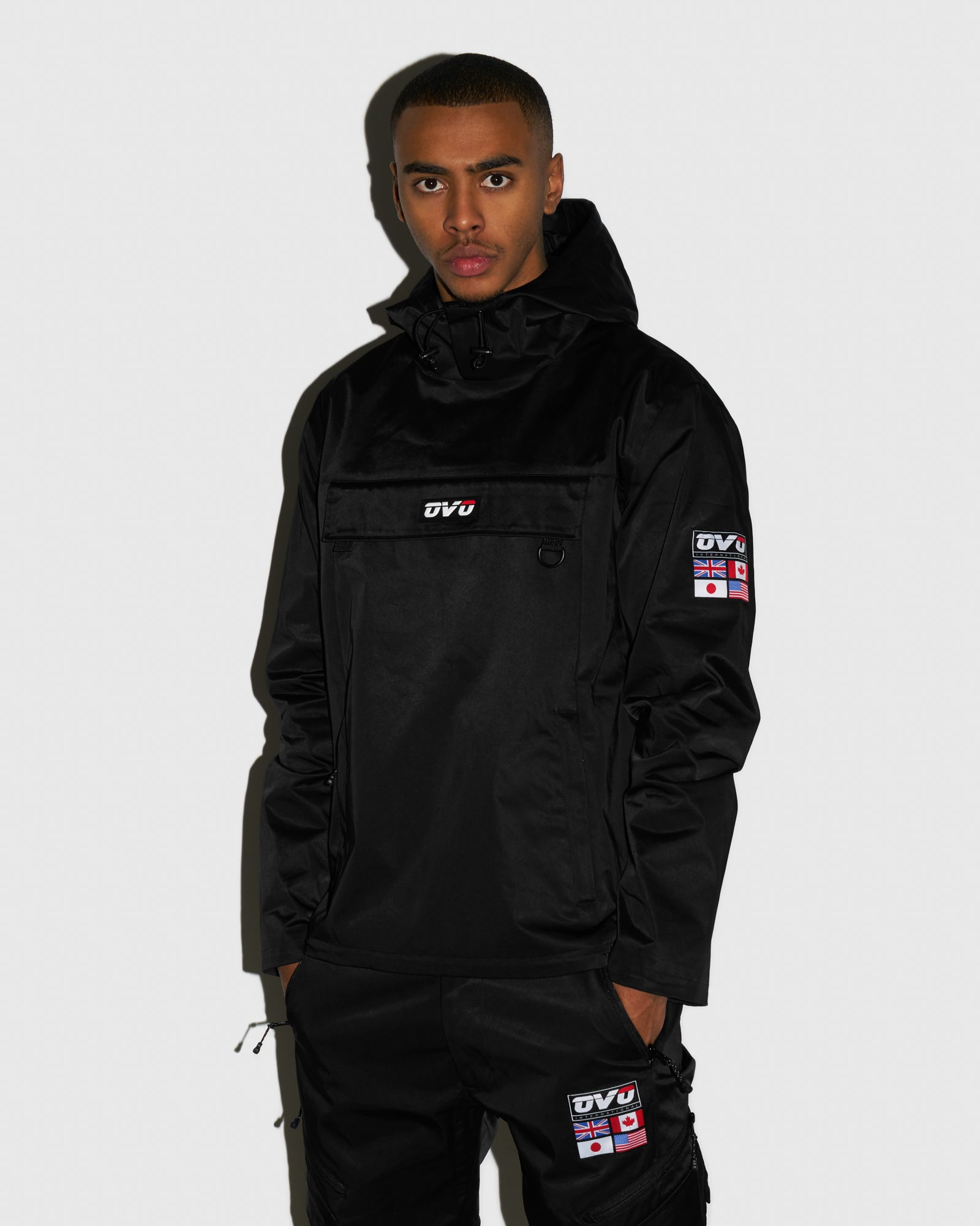 OVO INTERNATIONAL ANORAK HOODIE - BLACK IMAGE #2
