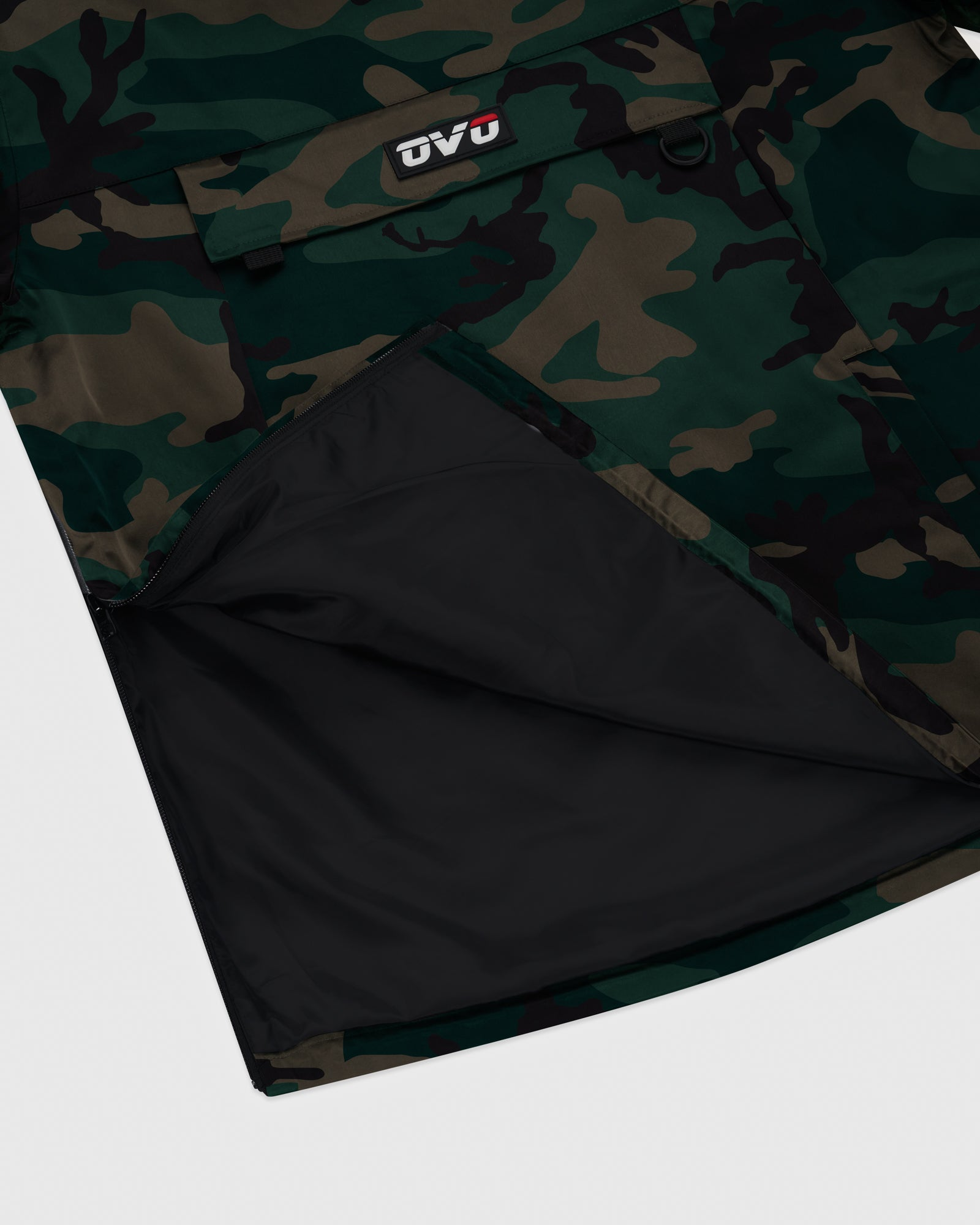 OVO INTERNATIONAL ANORAK HOODIE - CAMO GREEN IMAGE #6