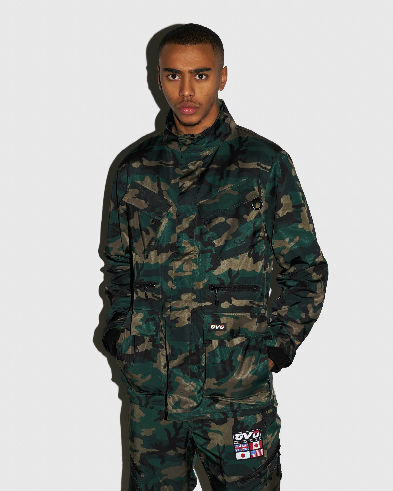 OVO INTERNATIONAL JACKET - CAMO GREEN IMAGE #2