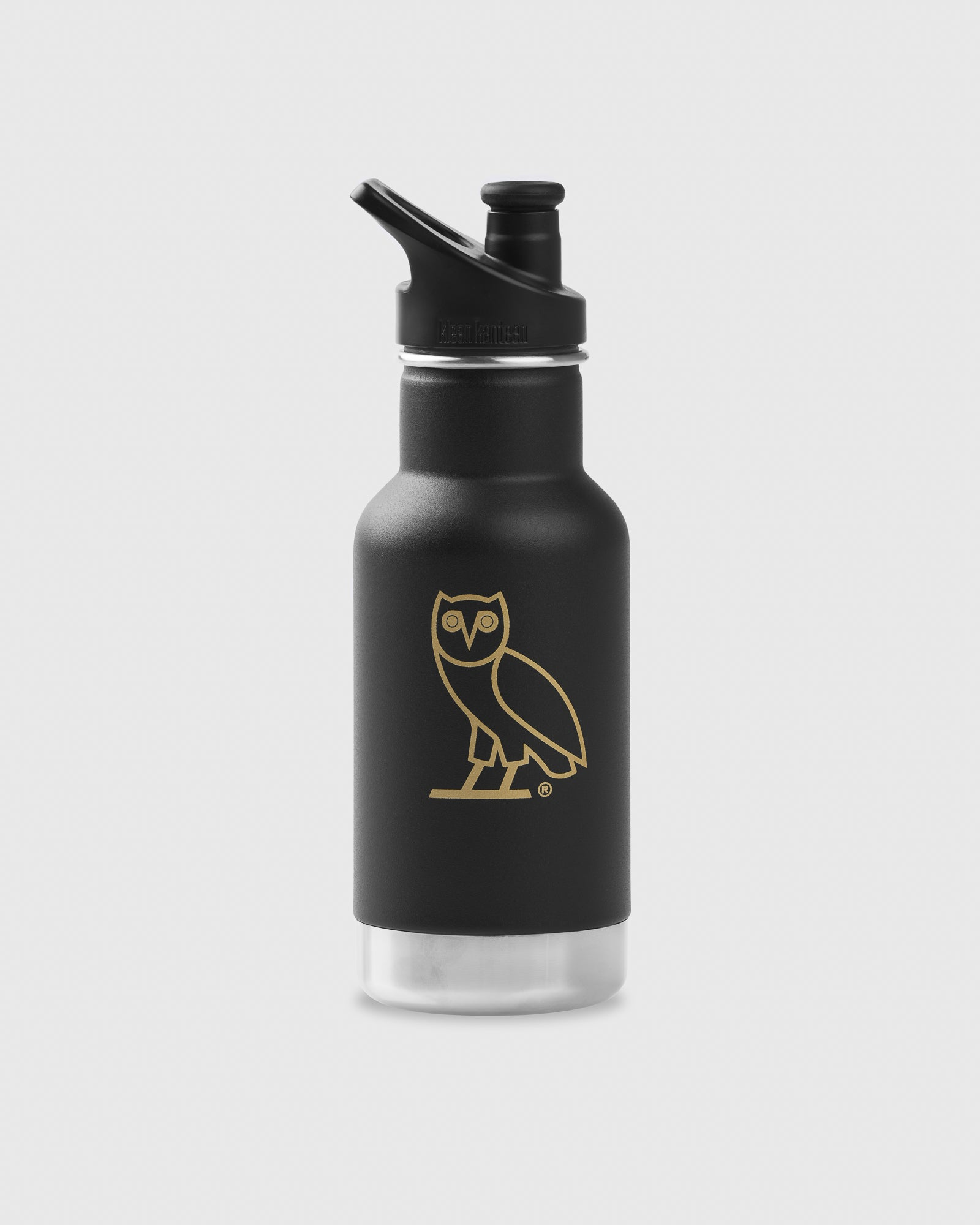 OVO x KLEAN KANTEEN OWL WATER BOTTLE - BLACK - SMALL IMAGE #1