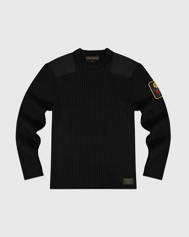 MARIGOLD MILITARY SWEATER - BLACK