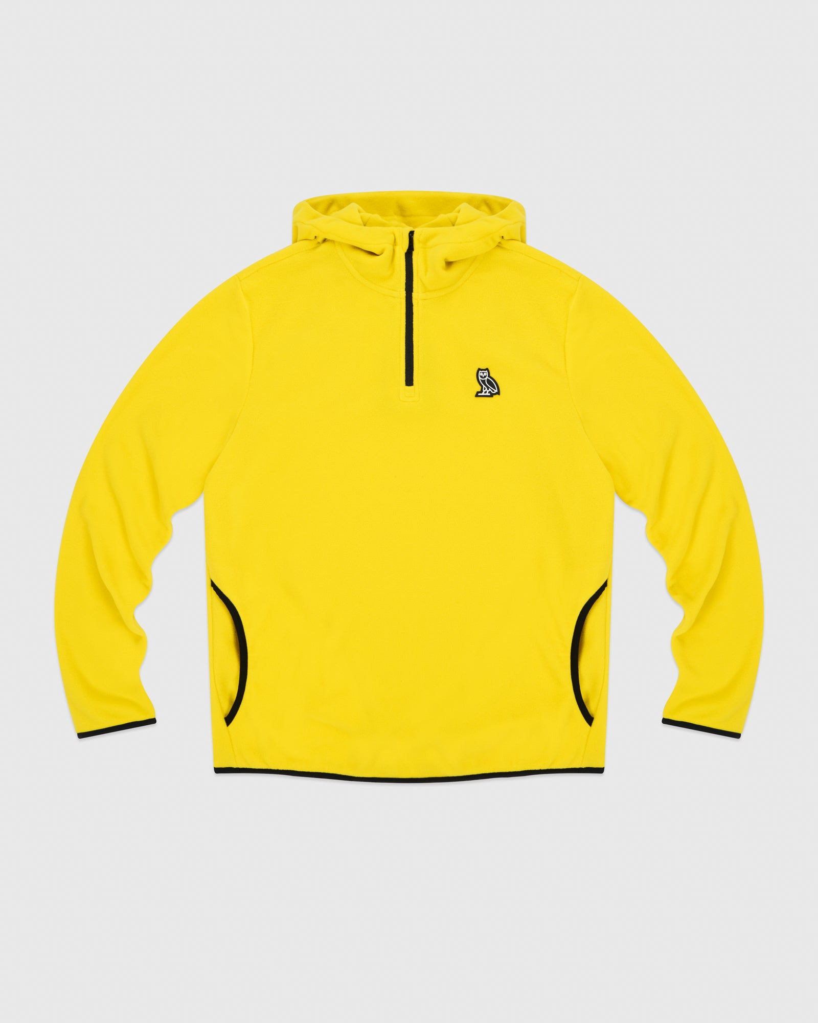 MICROFLEECE QUARTER ZIP HOODIE - YELLOW IMAGE #1