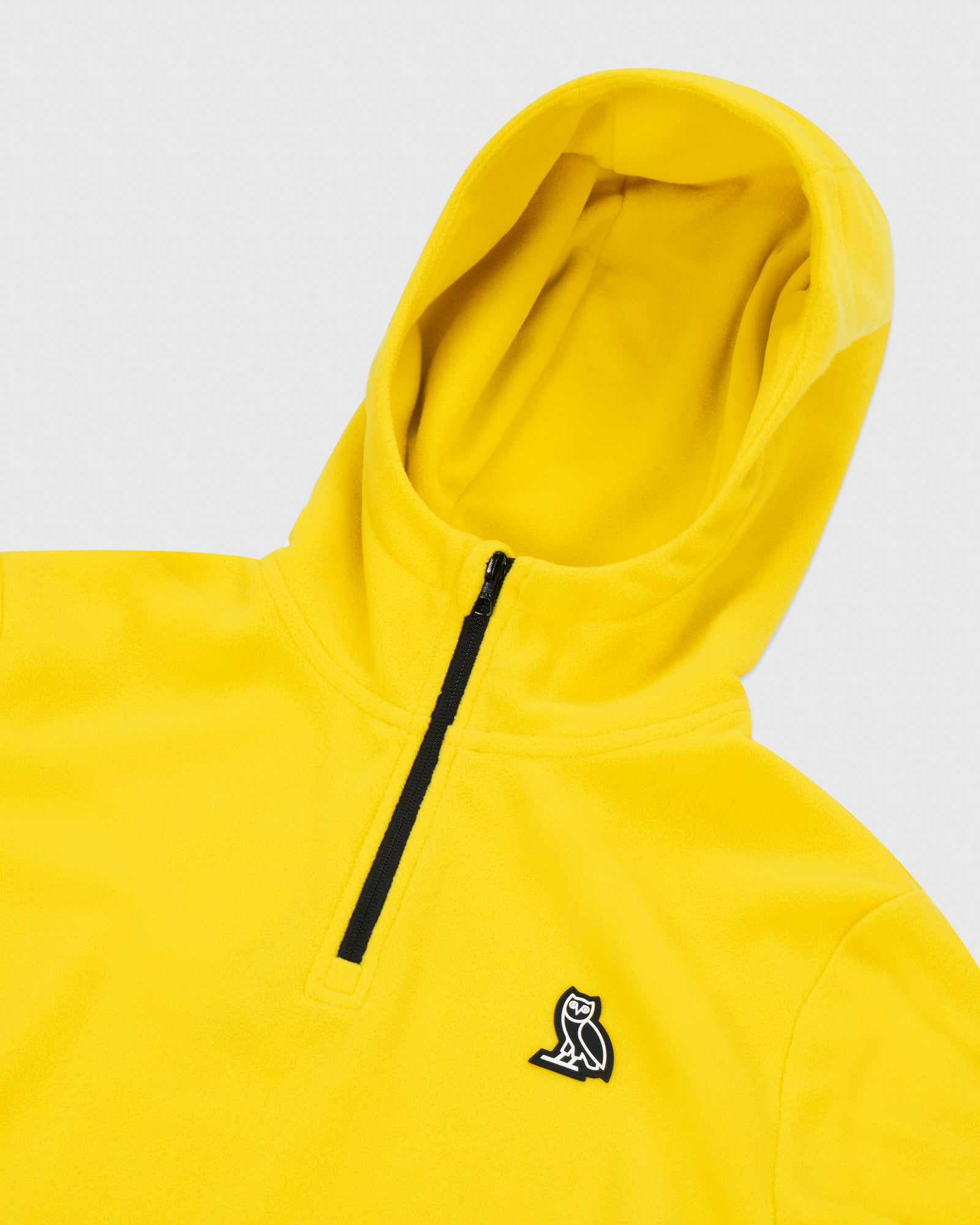 MICROFLEECE QUARTER ZIP HOODIE - YELLOW IMAGE #4