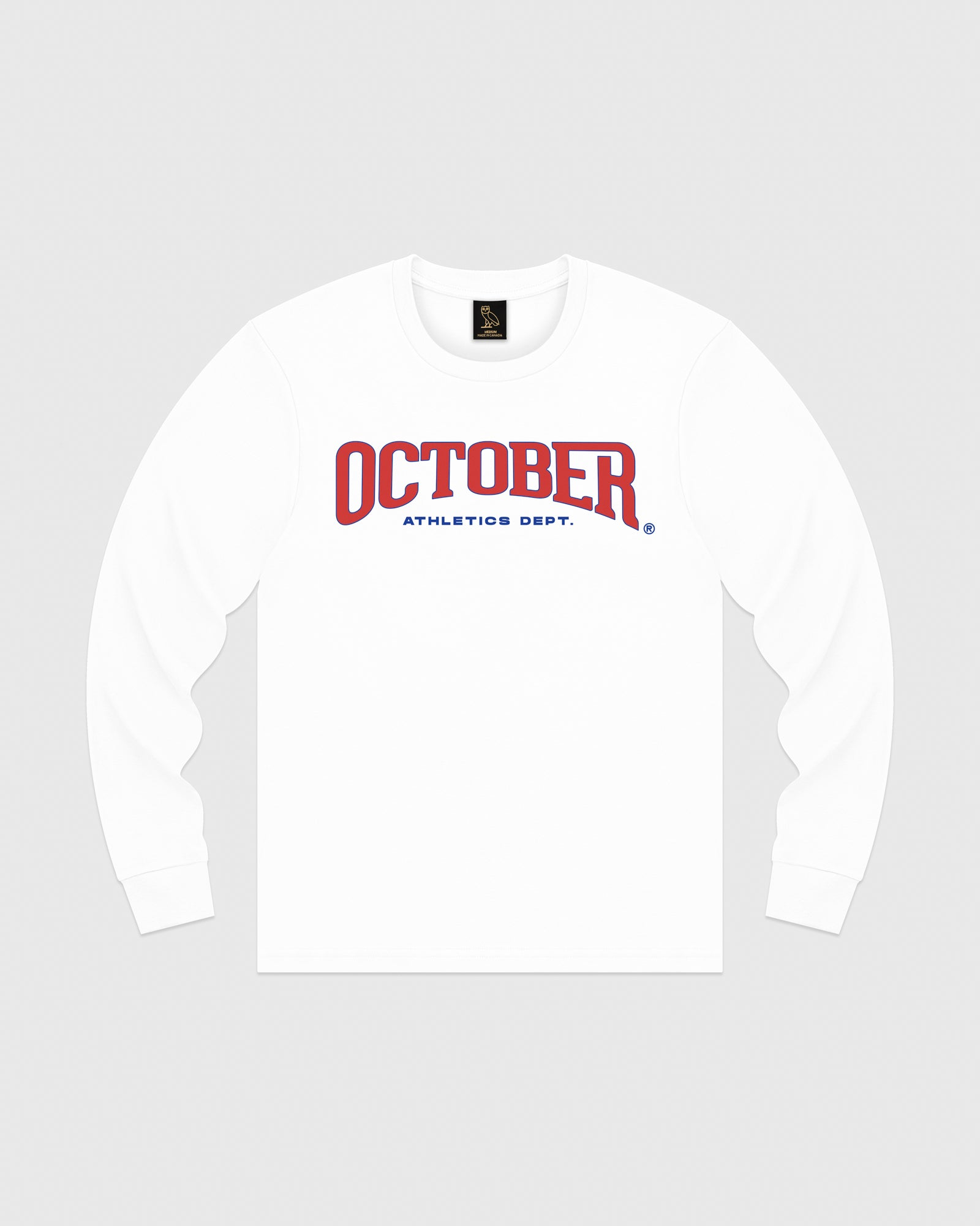 OCTOBER ATHLETICS LONGSLEEVE T-SHIRT - WHITE IMAGE #1