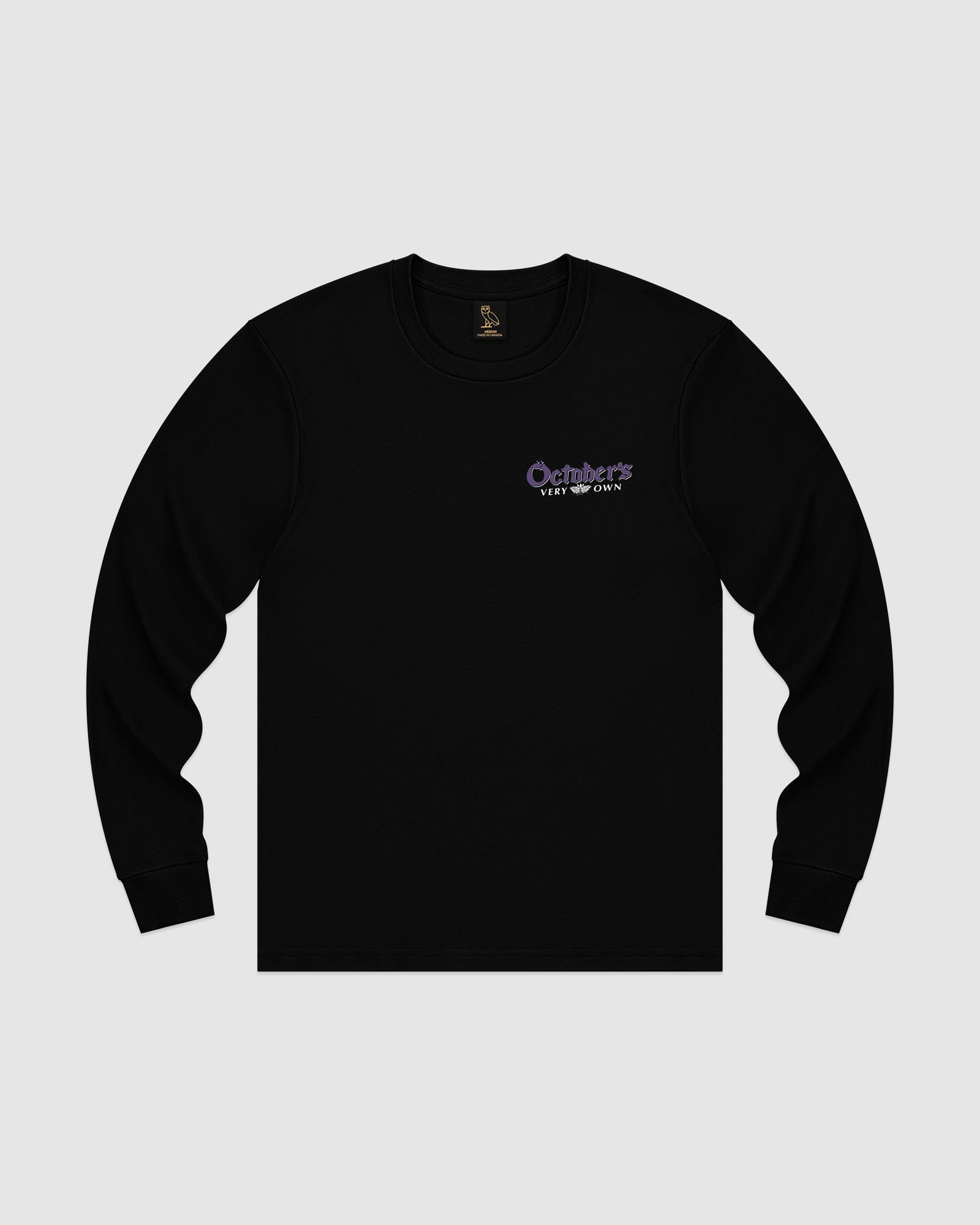 BLACKLETTER WORDMARK LONGSLEEVE T-SHIRT - BLACK IMAGE #1