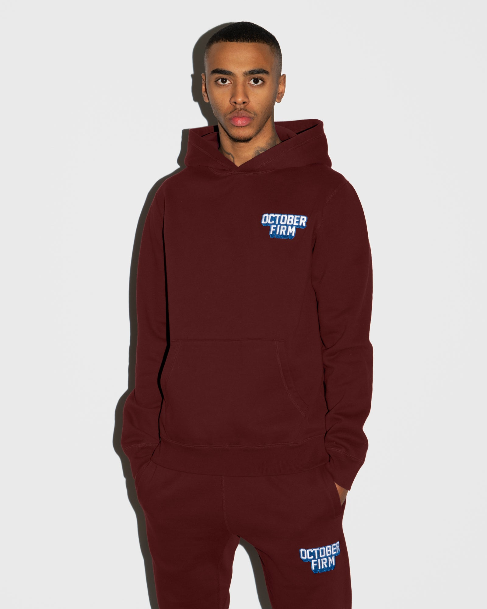 OCTOBER FIRM SHADOW HOODIE - BURGUNDY IMAGE #2