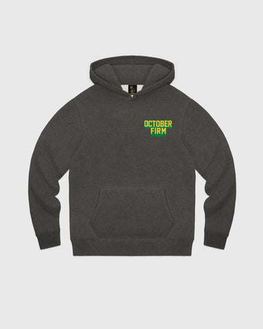 OCTOBER FIRM SHADOW HOODIE - CHARCOAL HEATHER