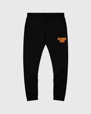 OCTOBER FIRM SHADOW SWEATPANT - BLACK