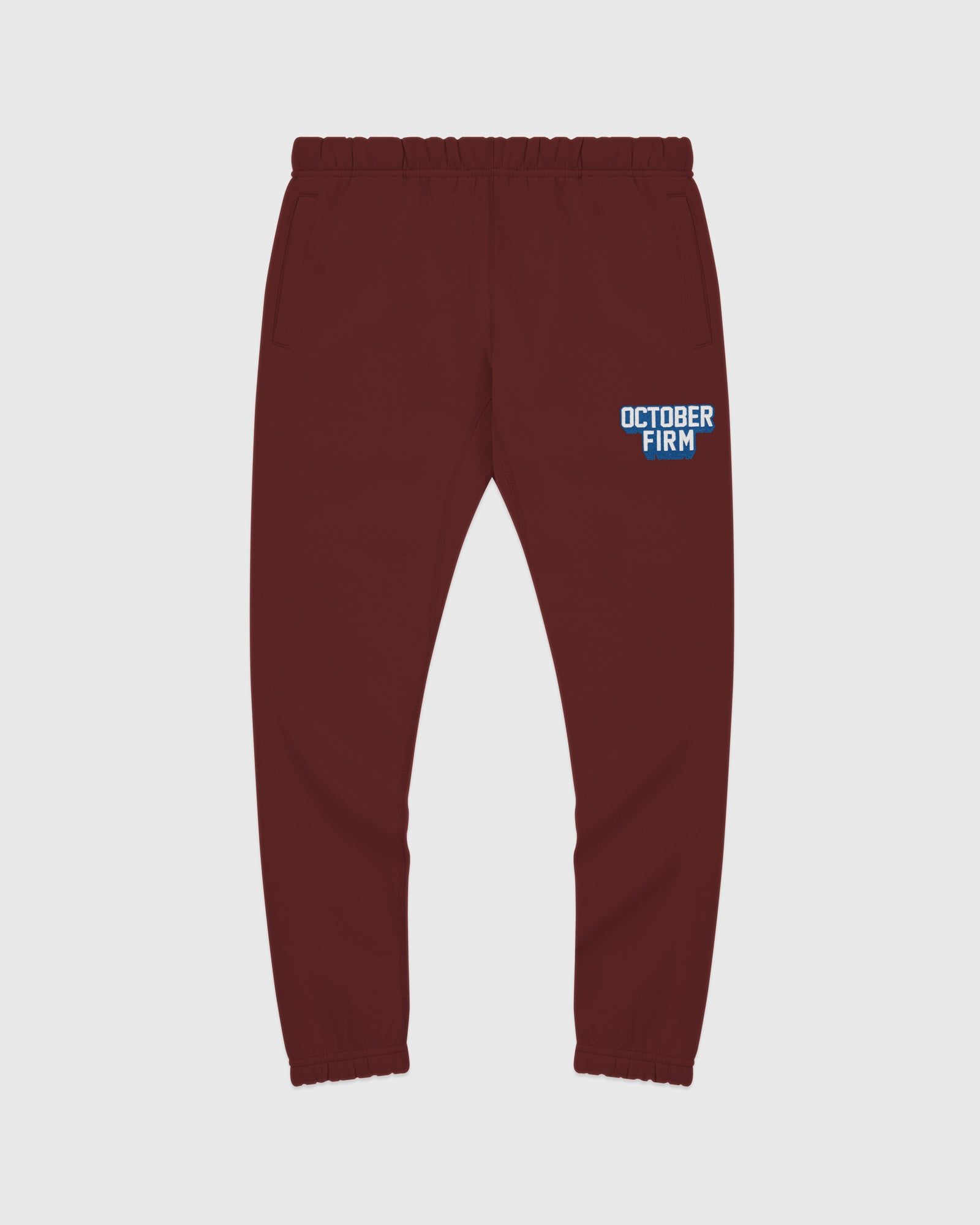 OCTOBER FIRM SHADOW SWEATPANT - BURGUNDY IMAGE #1