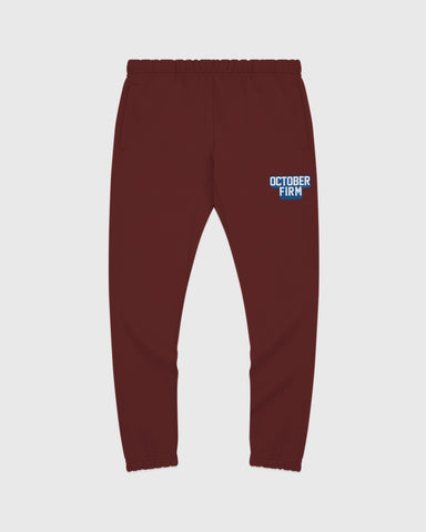OCTOBER FIRM SHADOW SWEATPANT - BURGUNDY