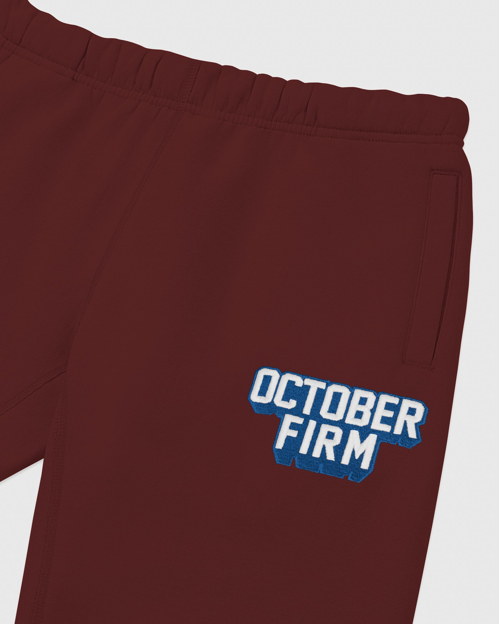 OCTOBER FIRM SHADOW SWEATPANT - BURGUNDY IMAGE #3
