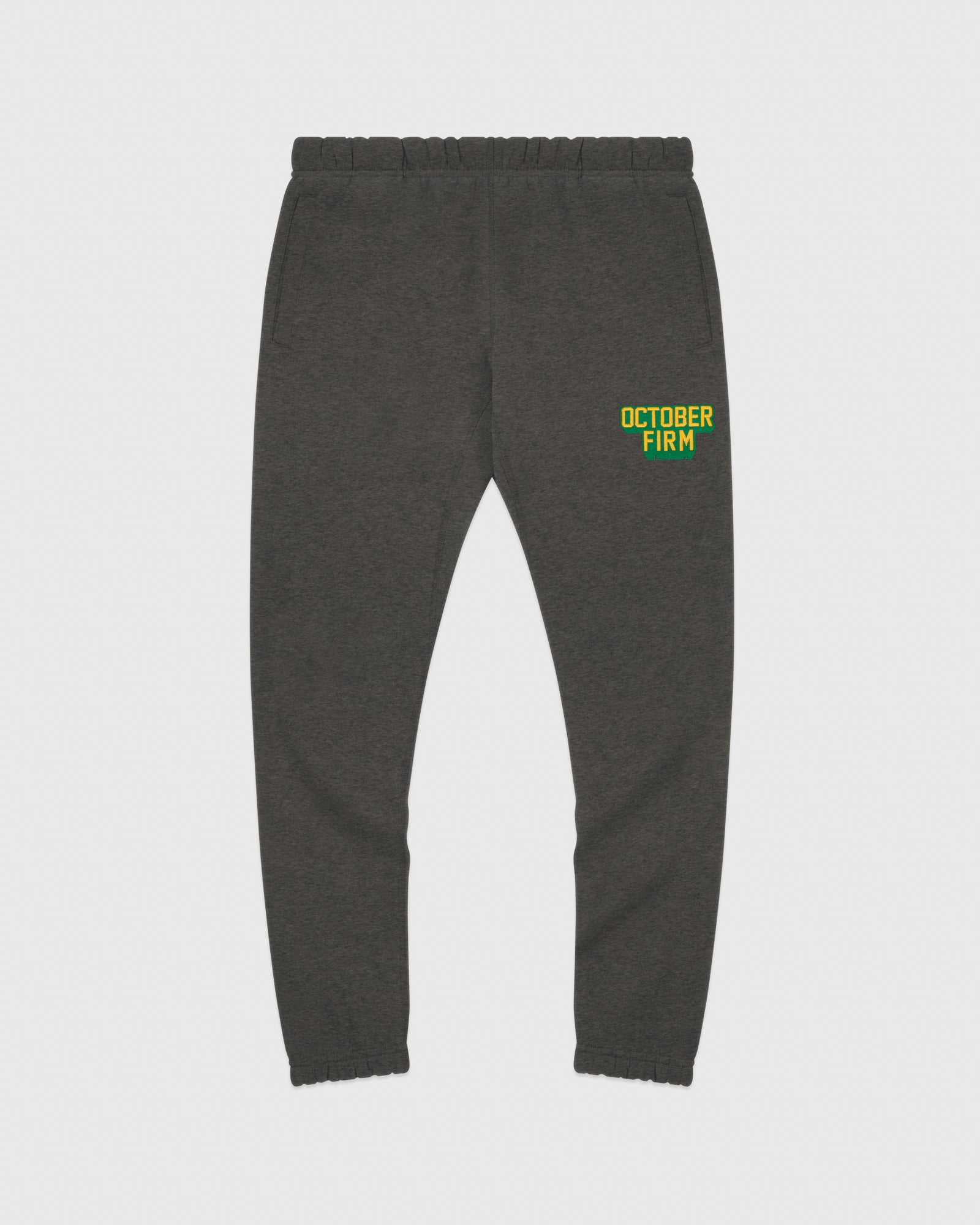 OCTOBER FIRM SHADOW SWEATPANT - CHARCOAL HEATHER IMAGE #1