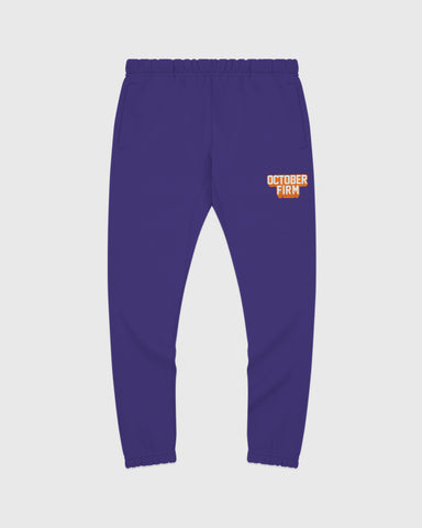 OCTOBER FIRM SHADOW SWEATPANT - PURPLE