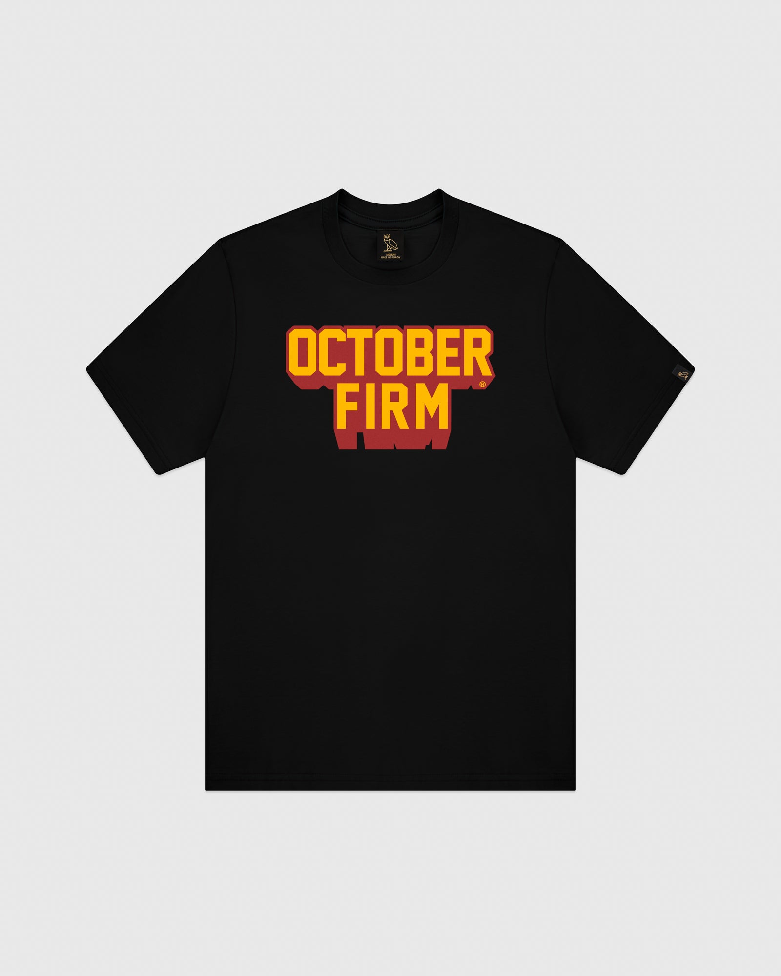 OCTOBER FIRM SHADOW T-SHIRT - BLACK IMAGE #1