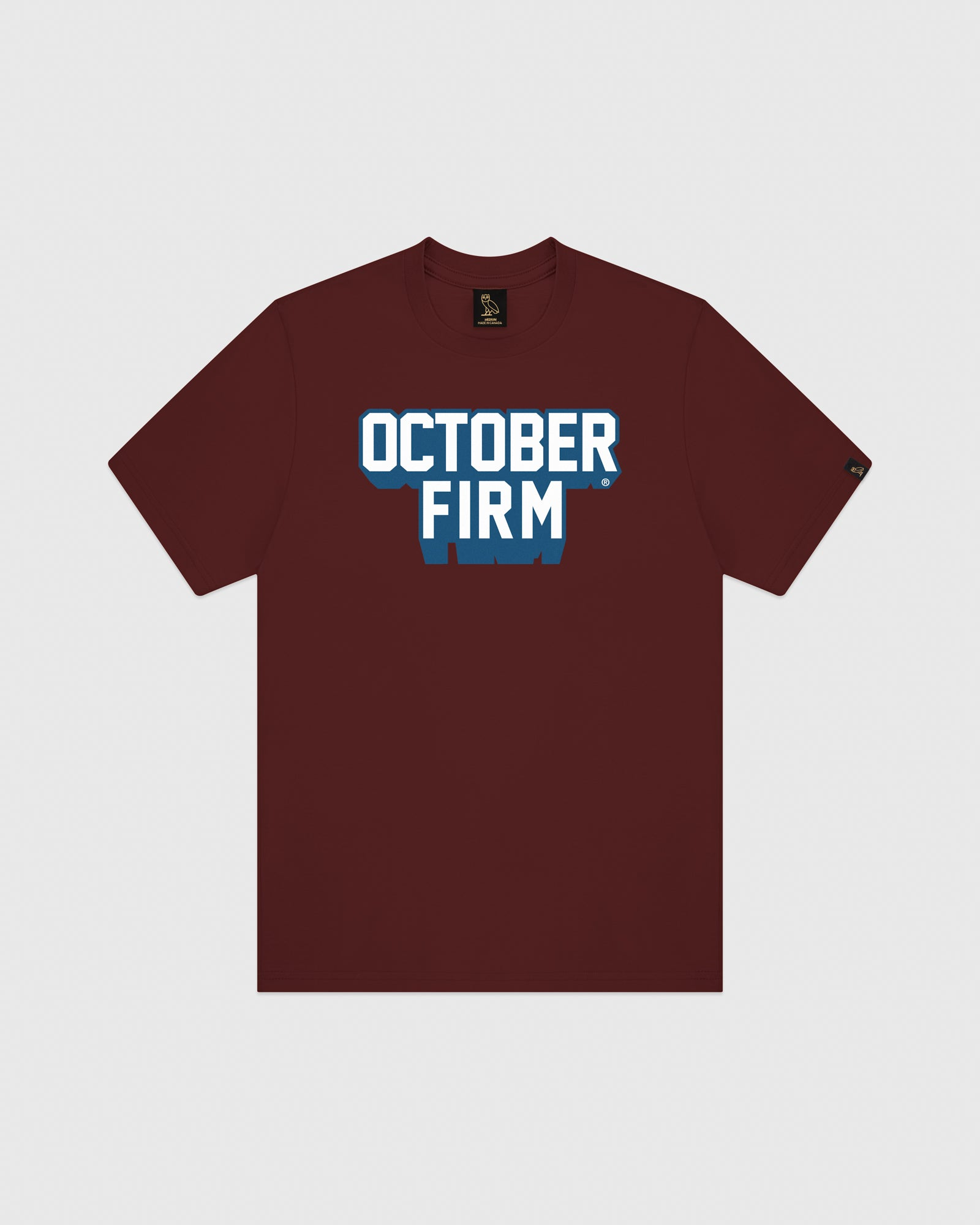 OCTOBER FIRM SHADOW T-SHIRT - BURGUNDY IMAGE #1