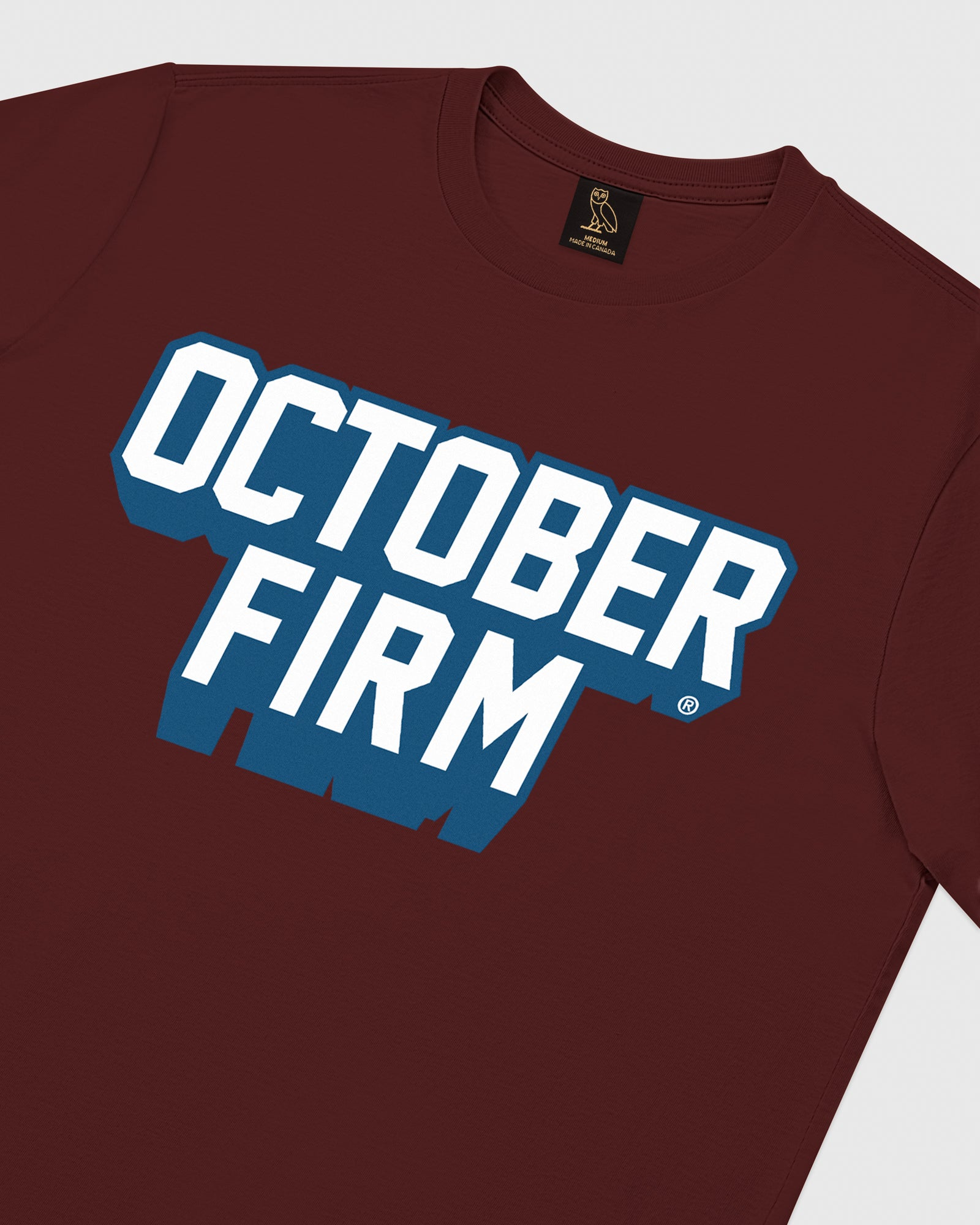 OCTOBER FIRM SHADOW T-SHIRT - BURGUNDY IMAGE #3