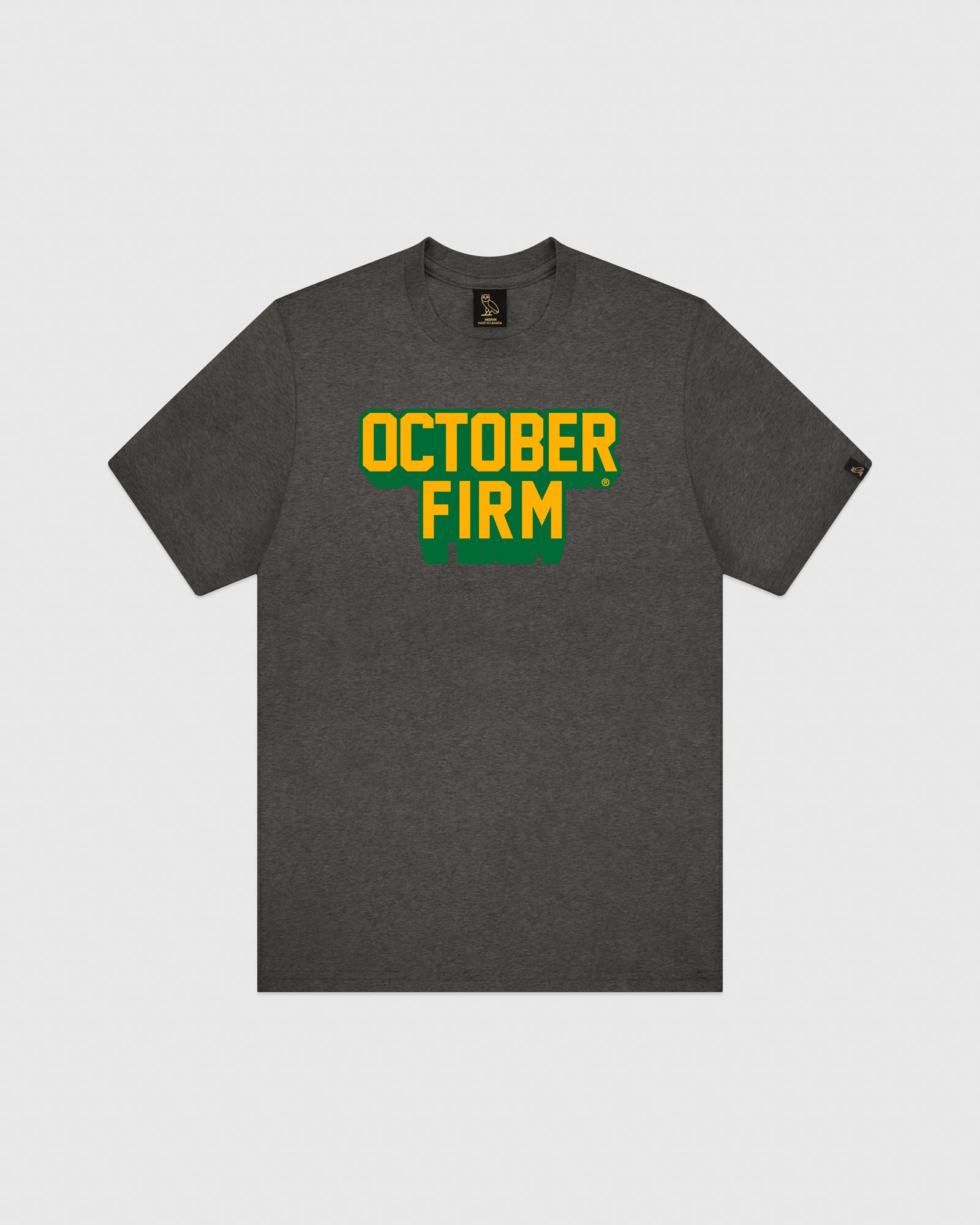 OCTOBER FIRM SHADOW T-SHIRT - CHARCOAL HEATHER IMAGE #1