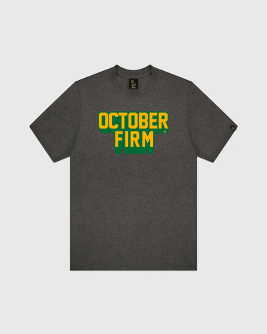 OCTOBER FIRM SHADOW T-SHIRT - CHARCOAL HEATHER