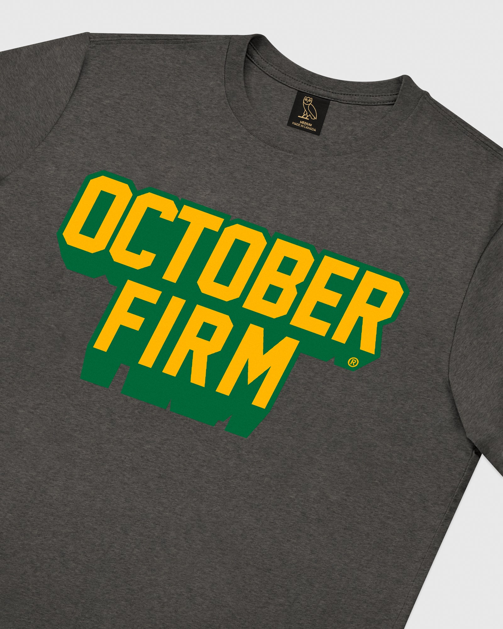 OCTOBER FIRM SHADOW T-SHIRT - CHARCOAL HEATHER IMAGE #3