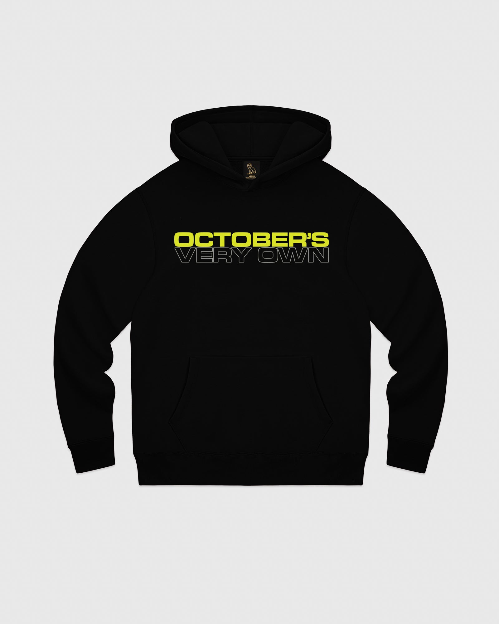 OCTOBER OUTLINE HOODIE - BLACK IMAGE #1