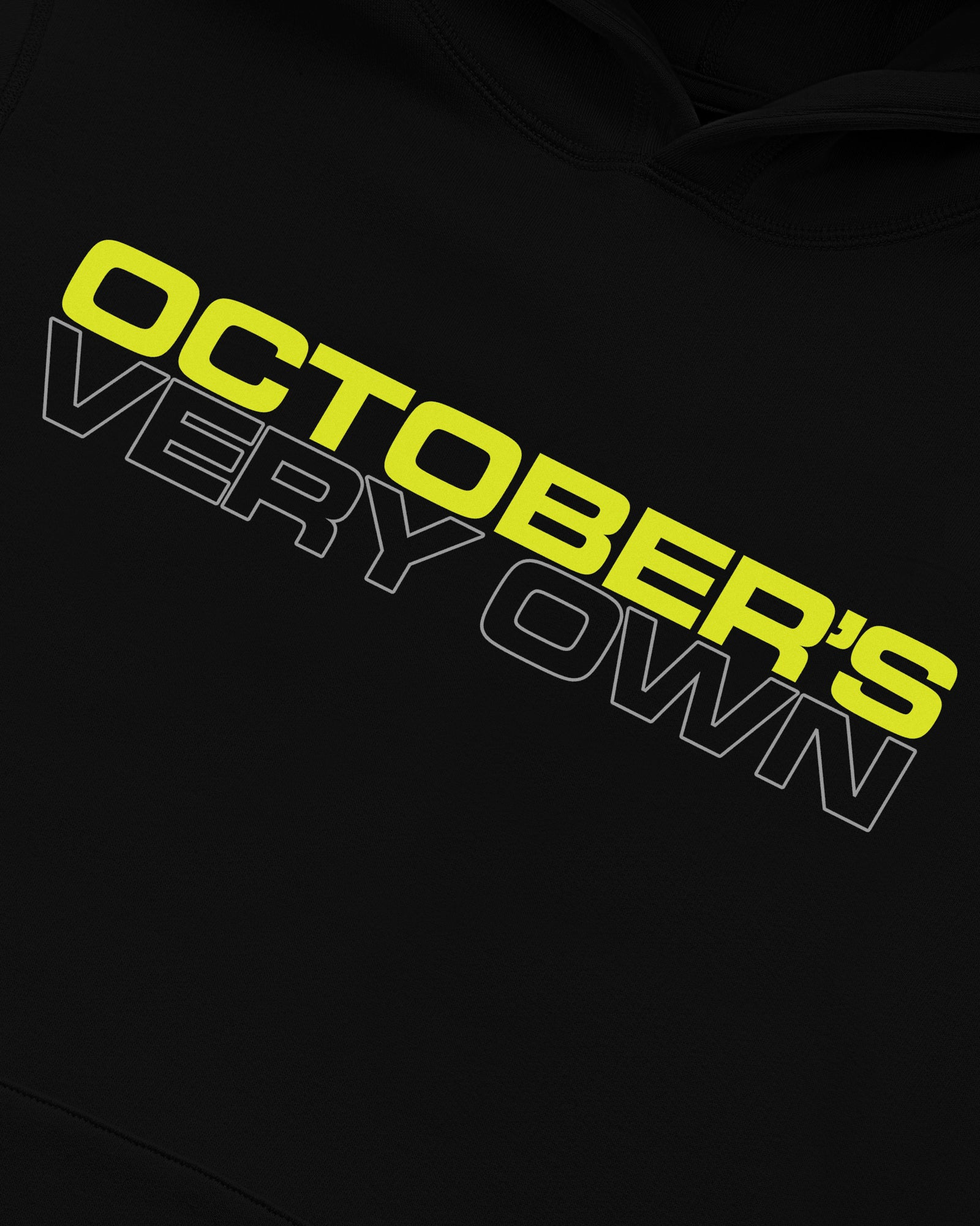 OCTOBER OUTLINE HOODIE - BLACK IMAGE #3