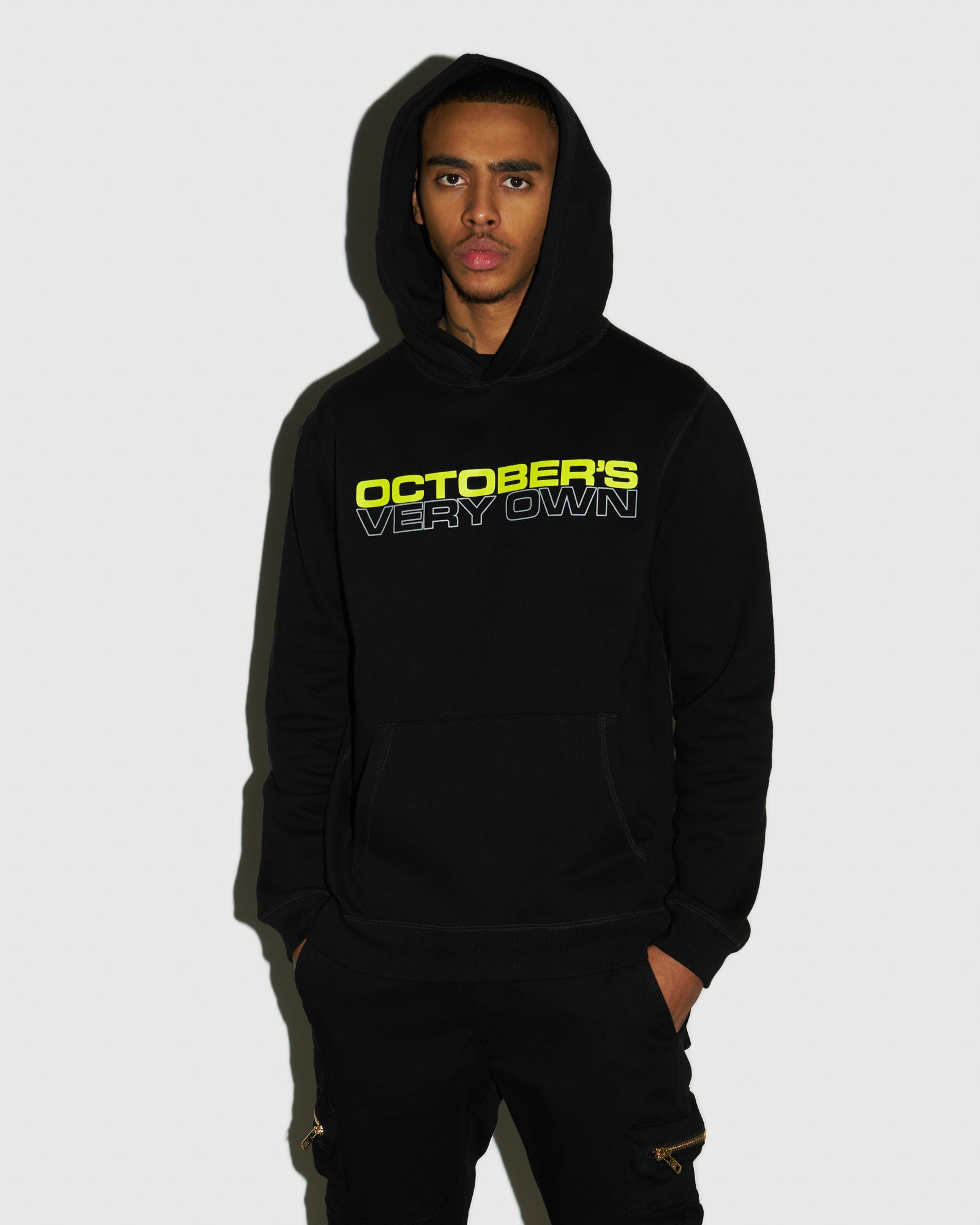 OCTOBER OUTLINE HOODIE - BLACK IMAGE #2