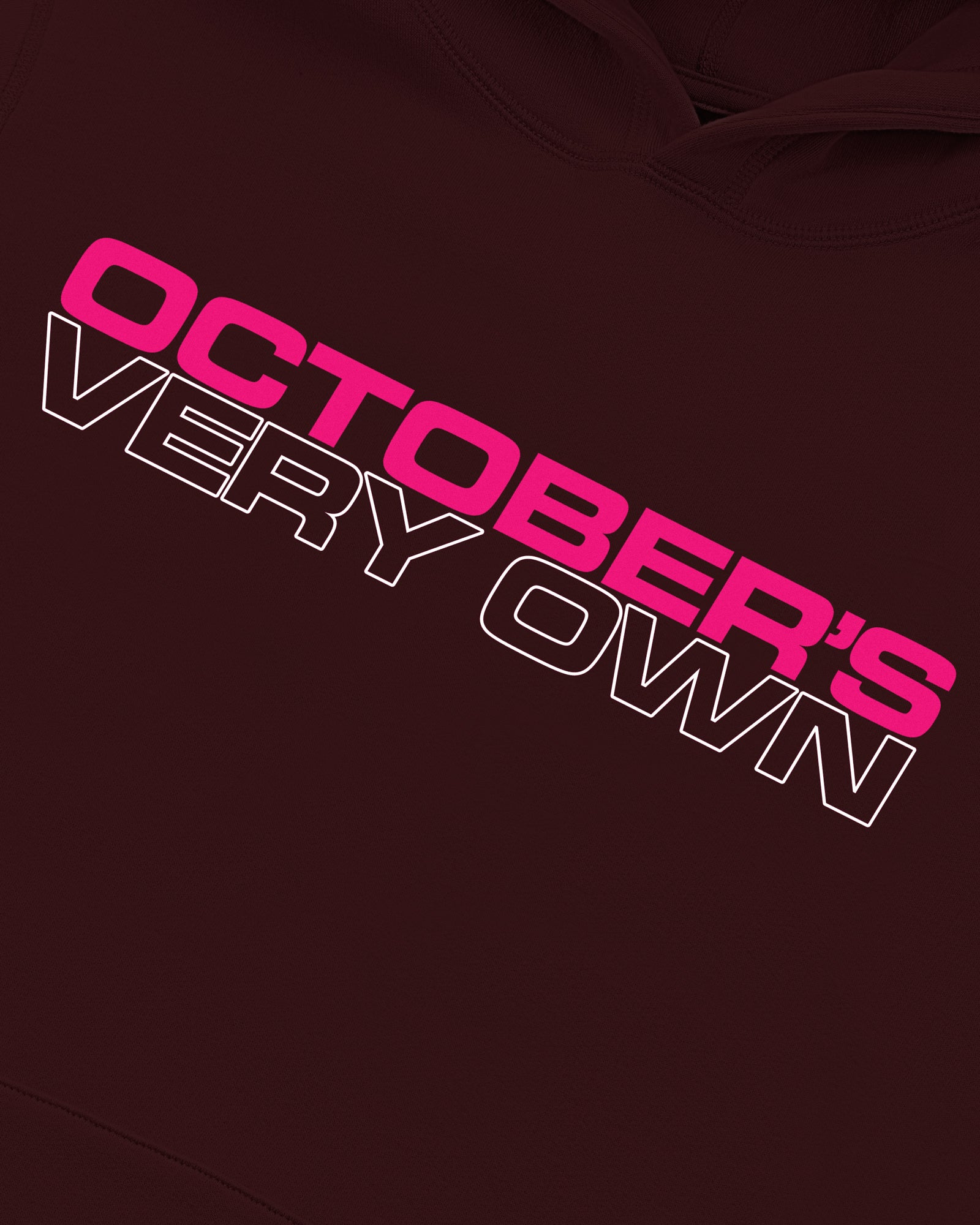 OCTOBER OUTLINE HOODIE - BURGUNDY IMAGE #3