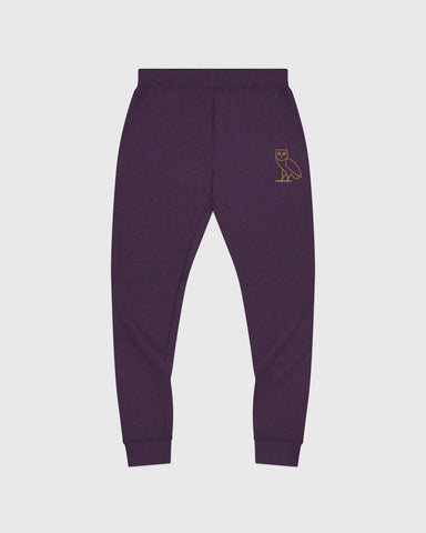 OWL SWEATPANT - HEATHER PURPLE