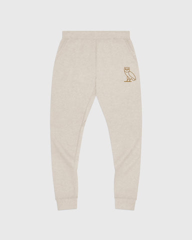 OWL SWEATPANT - HEATHER OATMEAL