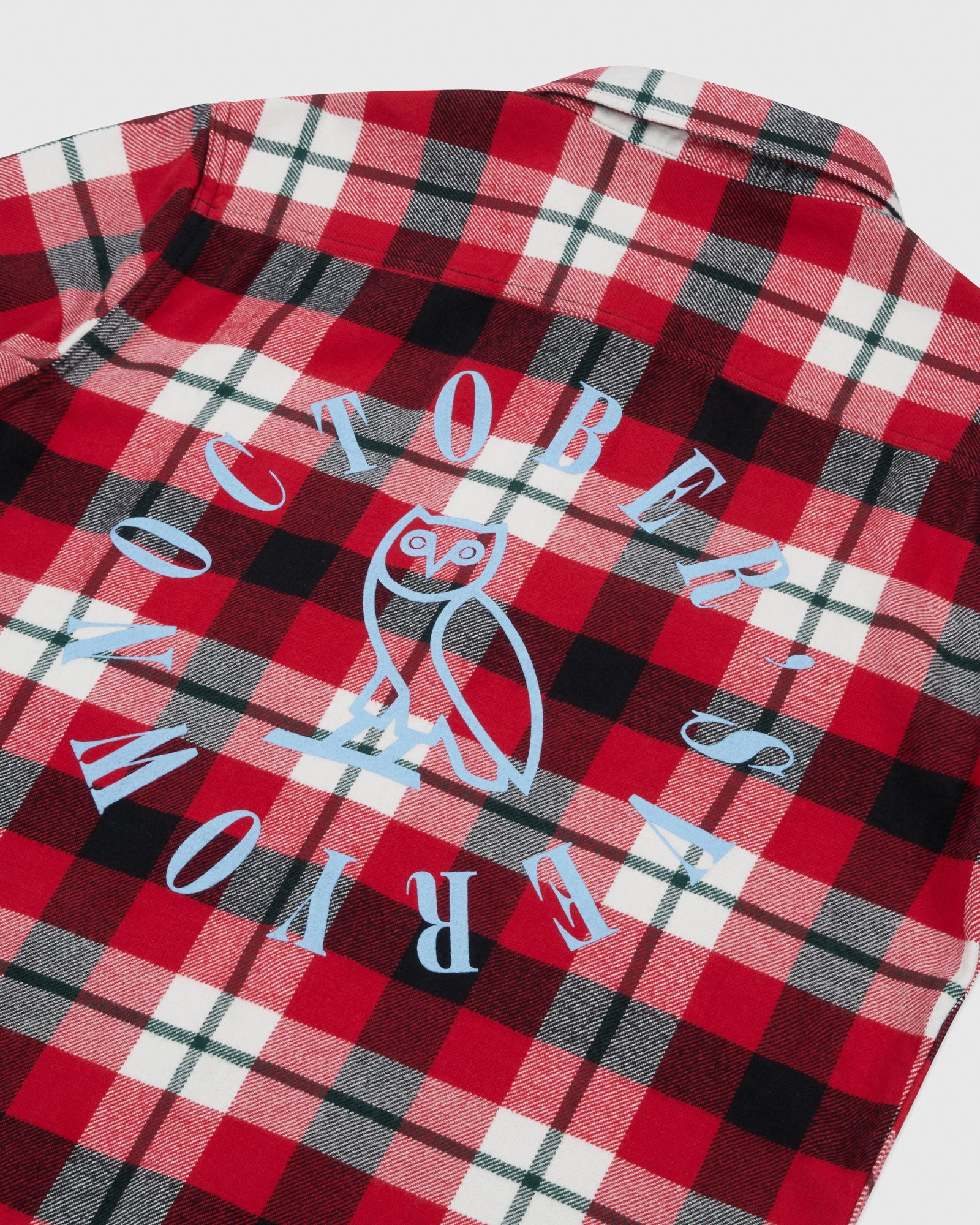 CIRCLE WORDMARK FLANNEL - RED IMAGE #5