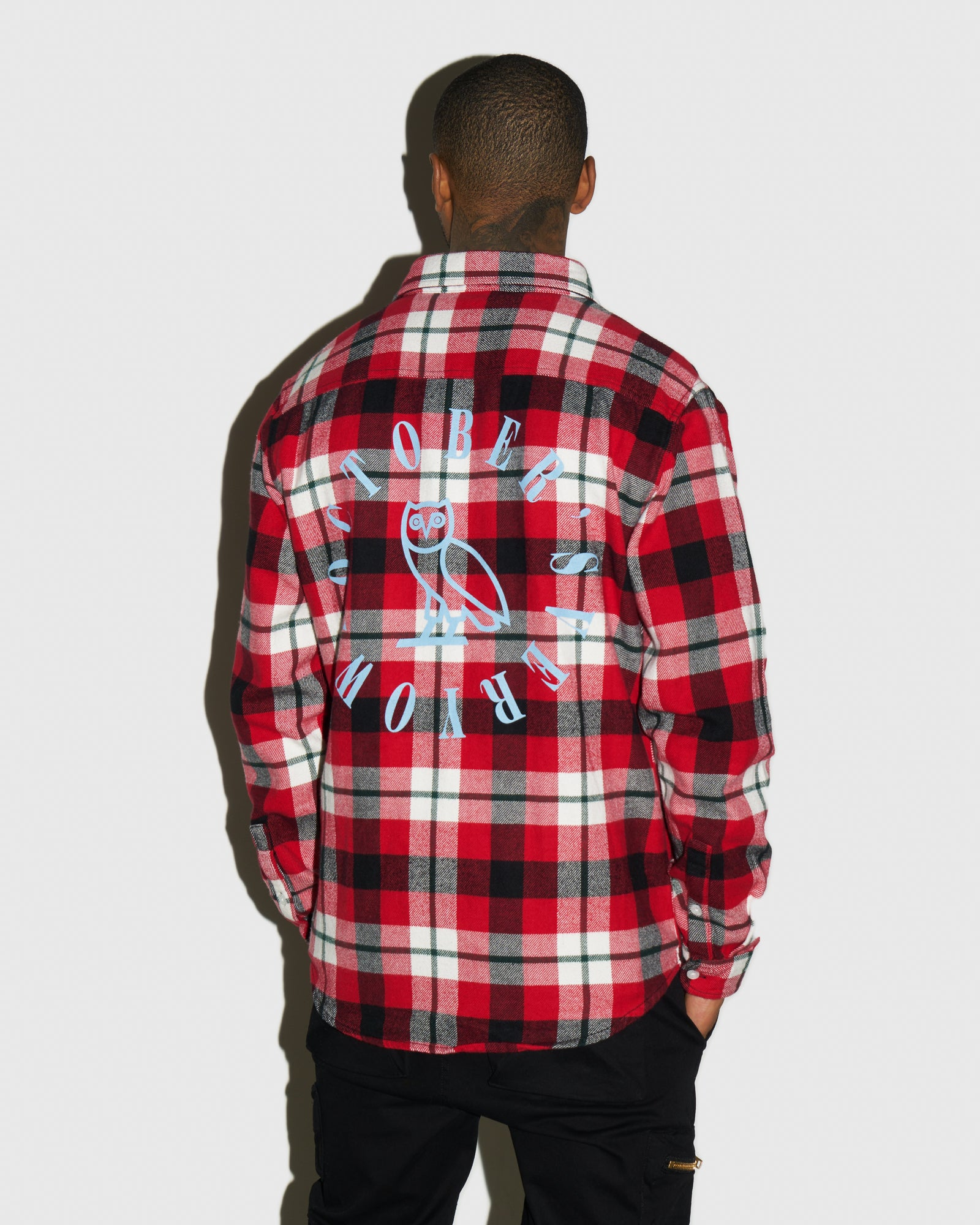 CIRCLE WORDMARK FLANNEL - RED IMAGE #3
