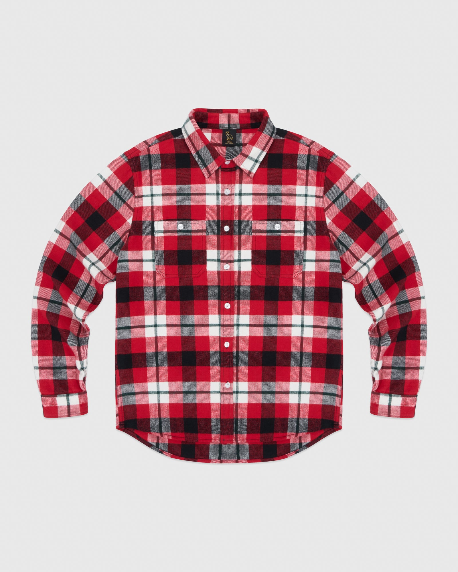 CIRCLE WORDMARK FLANNEL - RED IMAGE #1