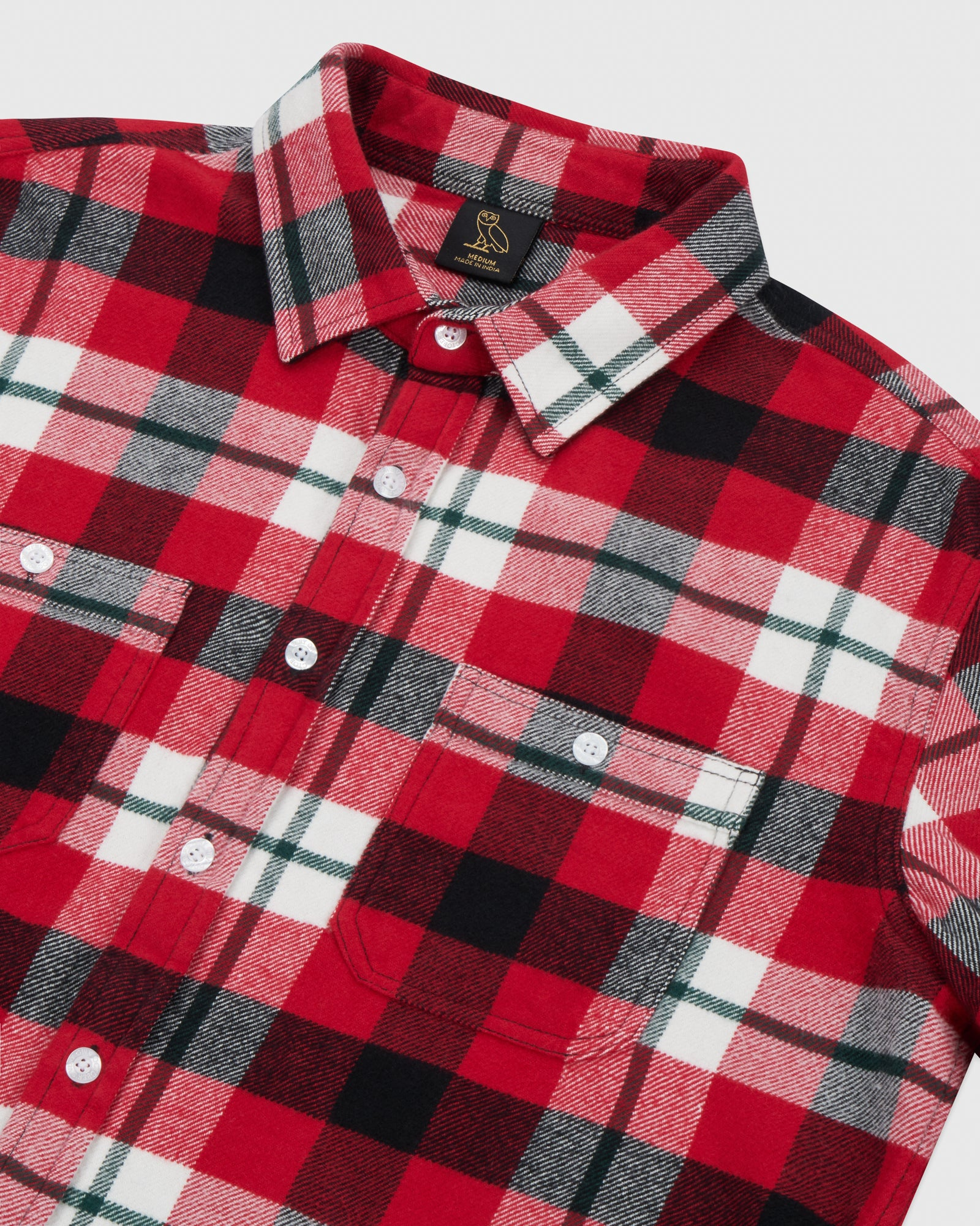 CIRCLE WORDMARK FLANNEL - RED IMAGE #4