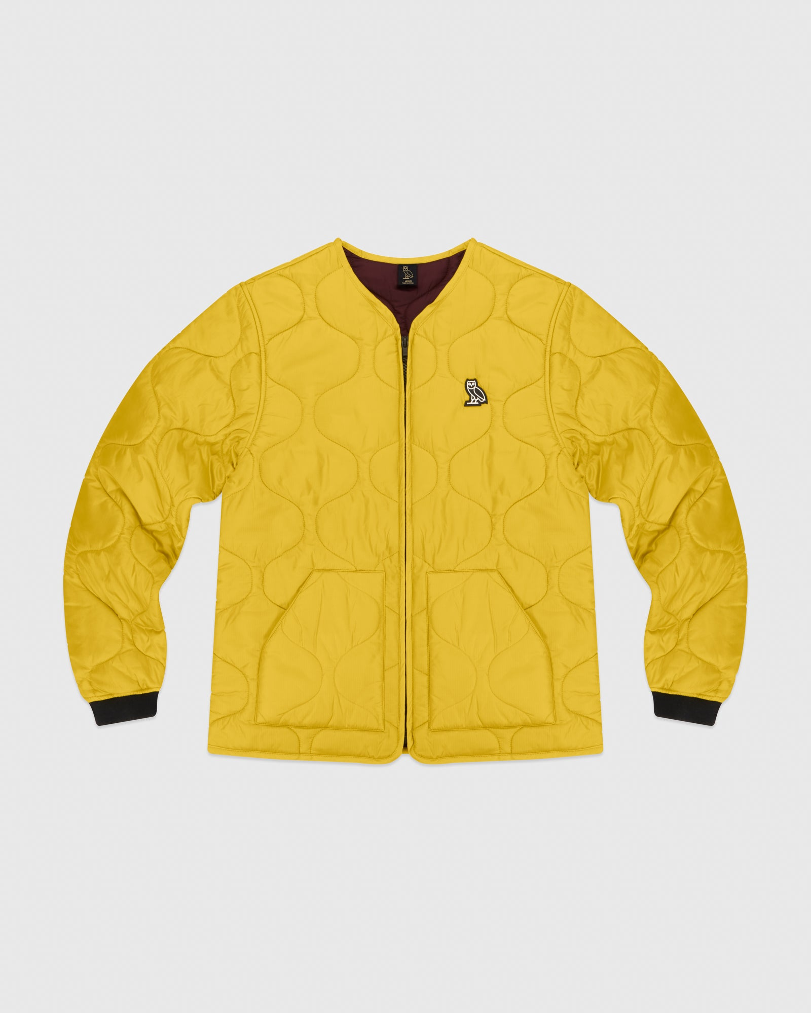 QUILTED LINER JACKET - YELLOW IMAGE #1