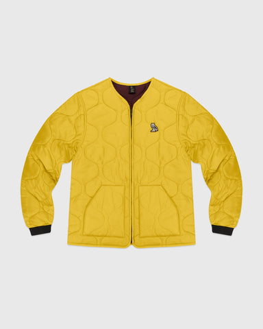 QUILTED LINER JACKET - YELLOW