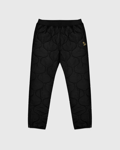 QUILTED LINER PANT - BLACK