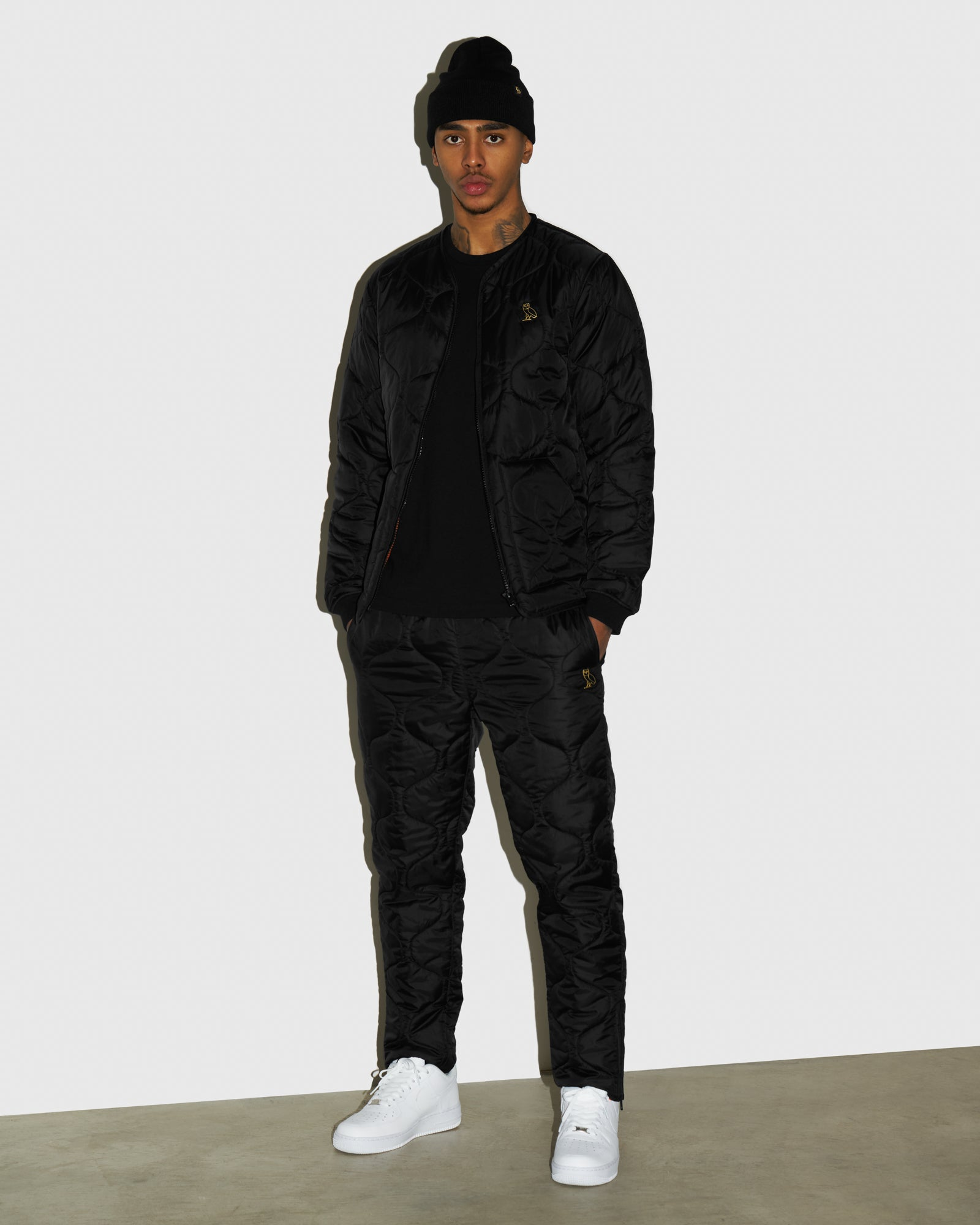 QUILTED LINER PANT - BLACK IMAGE #2