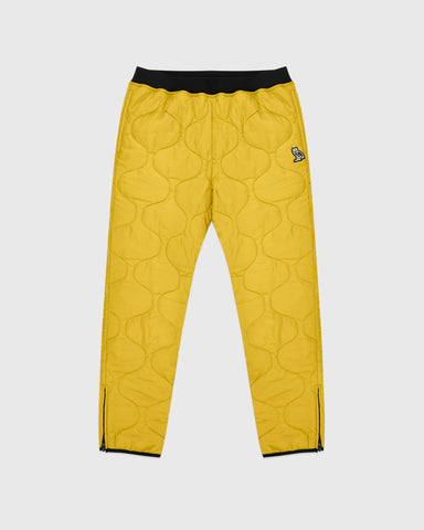 QUILTED LINER PANT - YELLOW