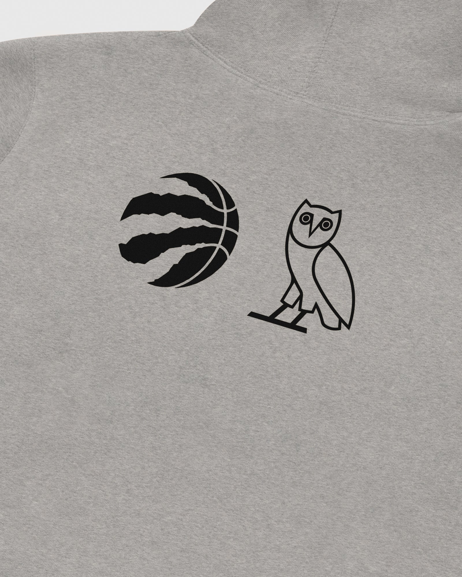 OVO X RAPTORS HOODIE  - HEATHER GREY IMAGE #5