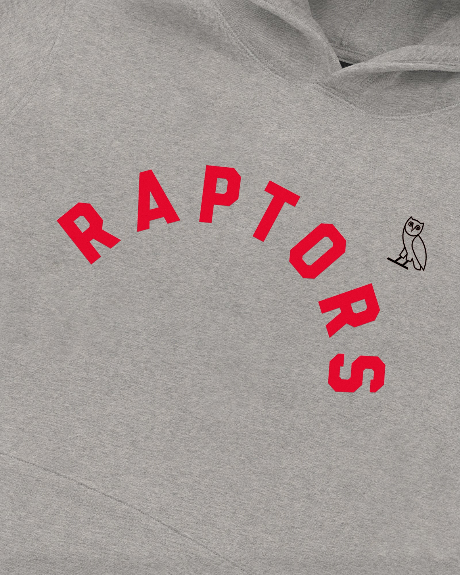 OVO X RAPTORS HOODIE  - HEATHER GREY IMAGE #4
