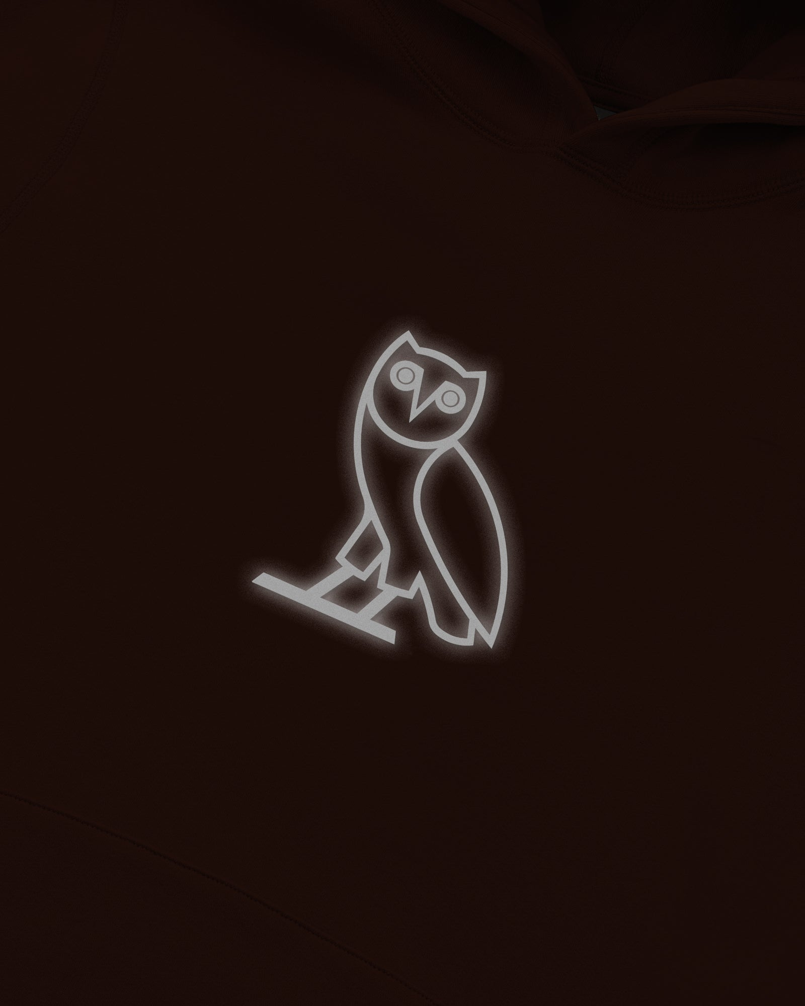 REFLECTIVE CLASSIC OWL HOODIE - BROWN IMAGE #4