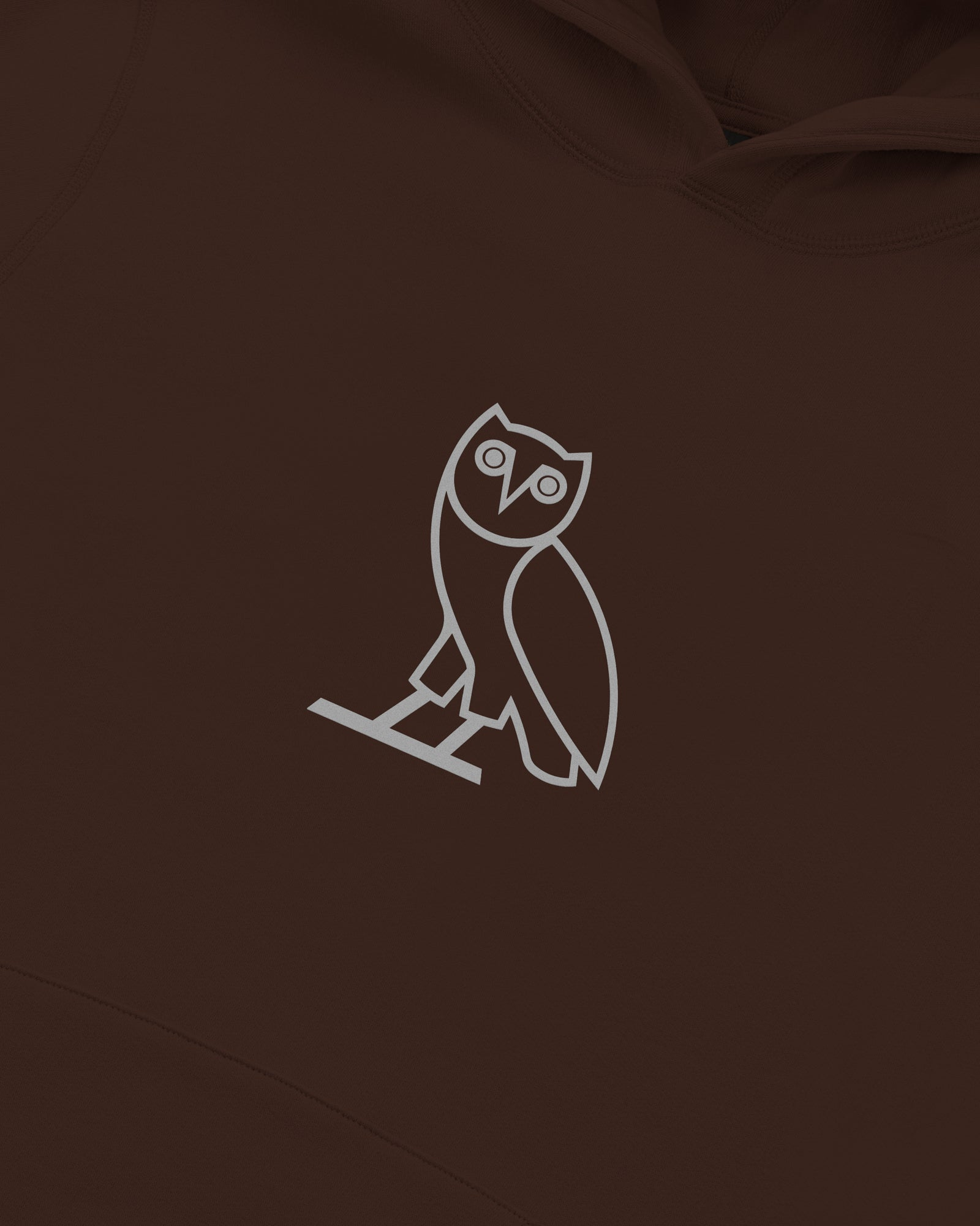 REFLECTIVE CLASSIC OWL HOODIE - BROWN IMAGE #3