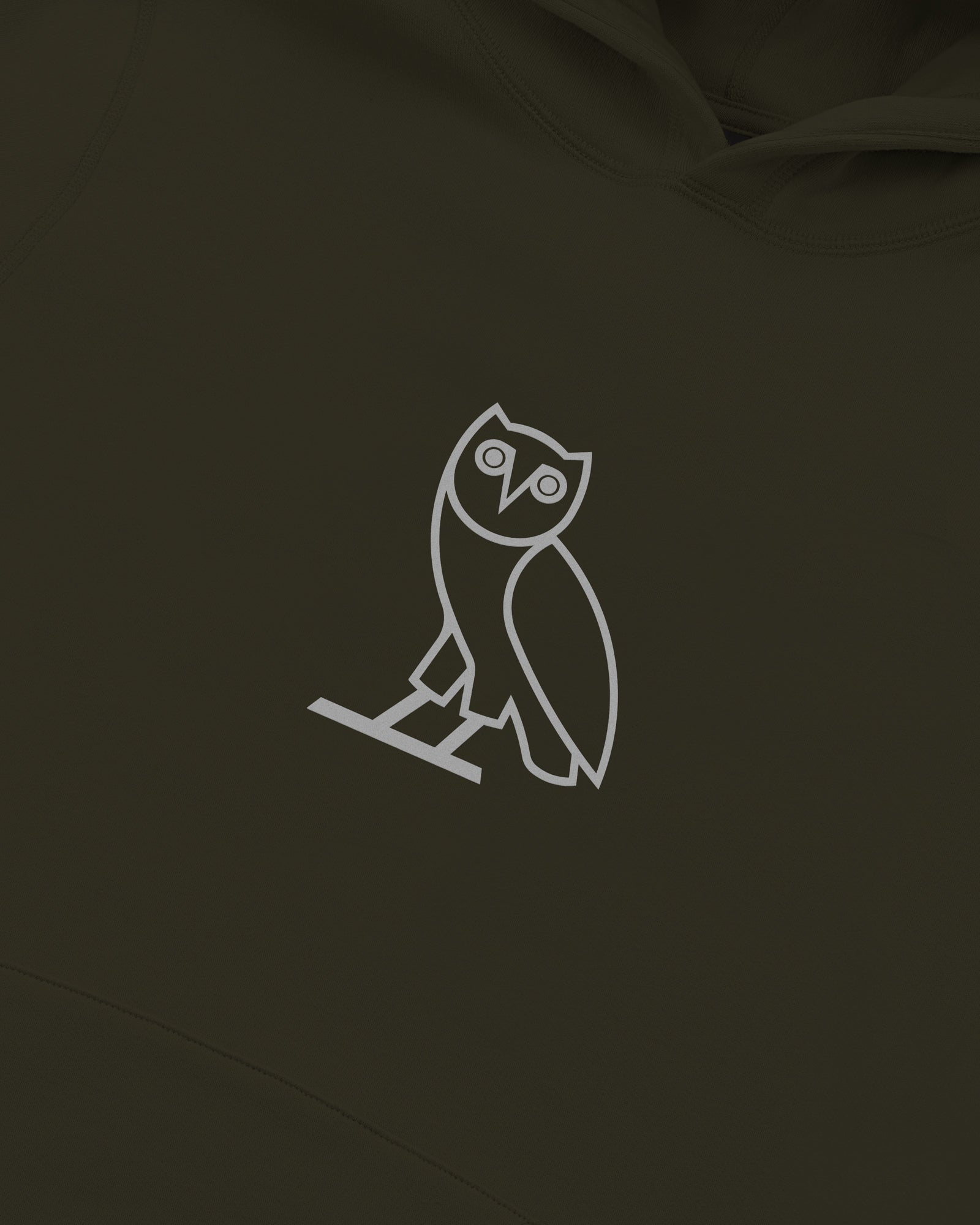 REFLECTIVE CLASSIC OWL HOODIE - LEAF GREEN IMAGE #3